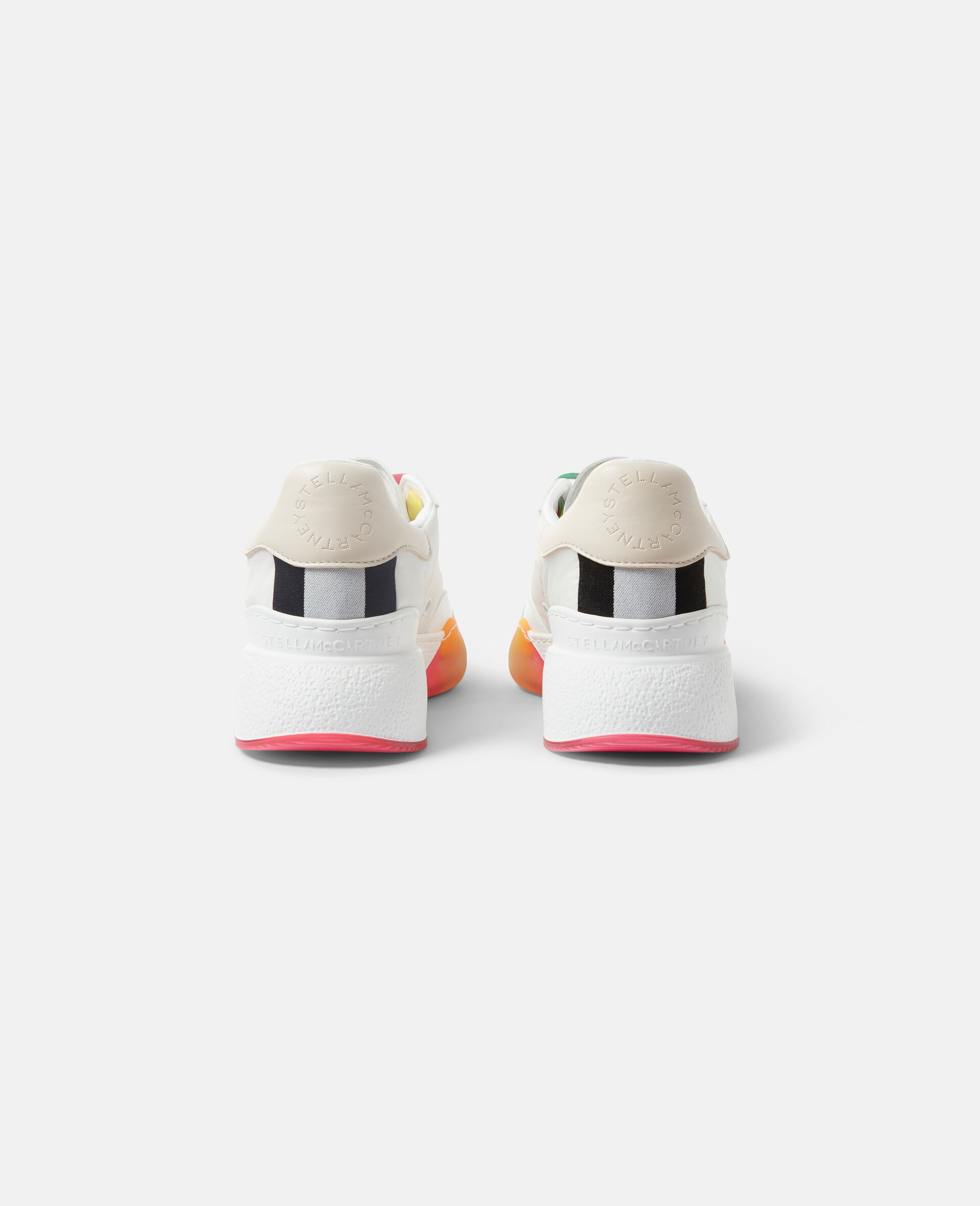 Loop Lace-up Sneakers-White-large image number 2