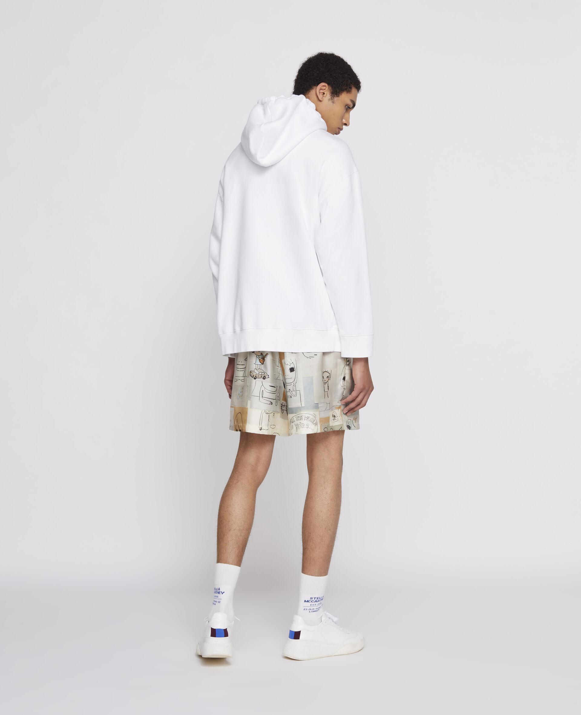 Sweat-shirt à capuche Nara en coton biologique-Blanc-large image number 2
