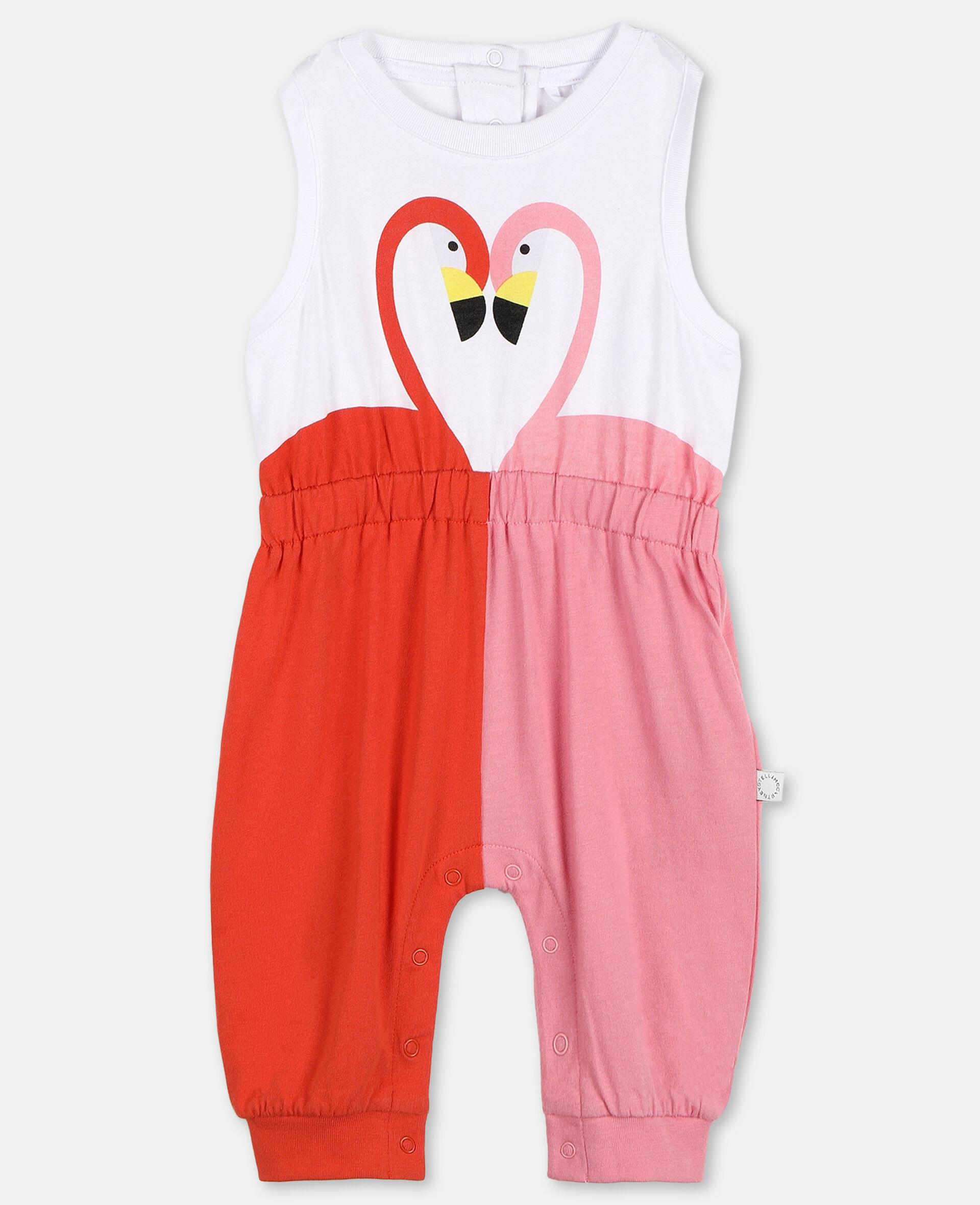 Overall aus Baumwolle mit Flamingo-Weiß-large image number 0