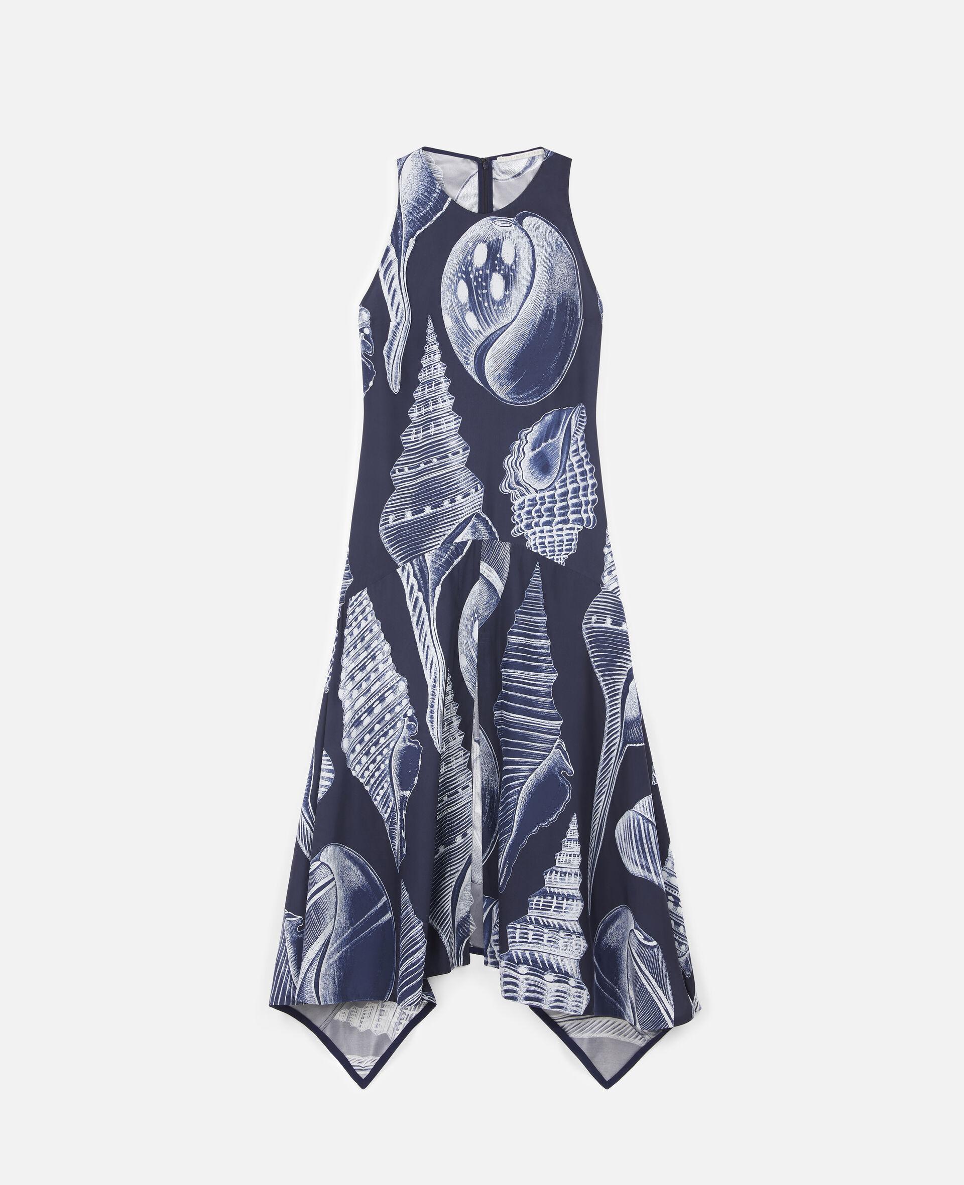 Anabelle Silk Dress-Blue-large image number 0