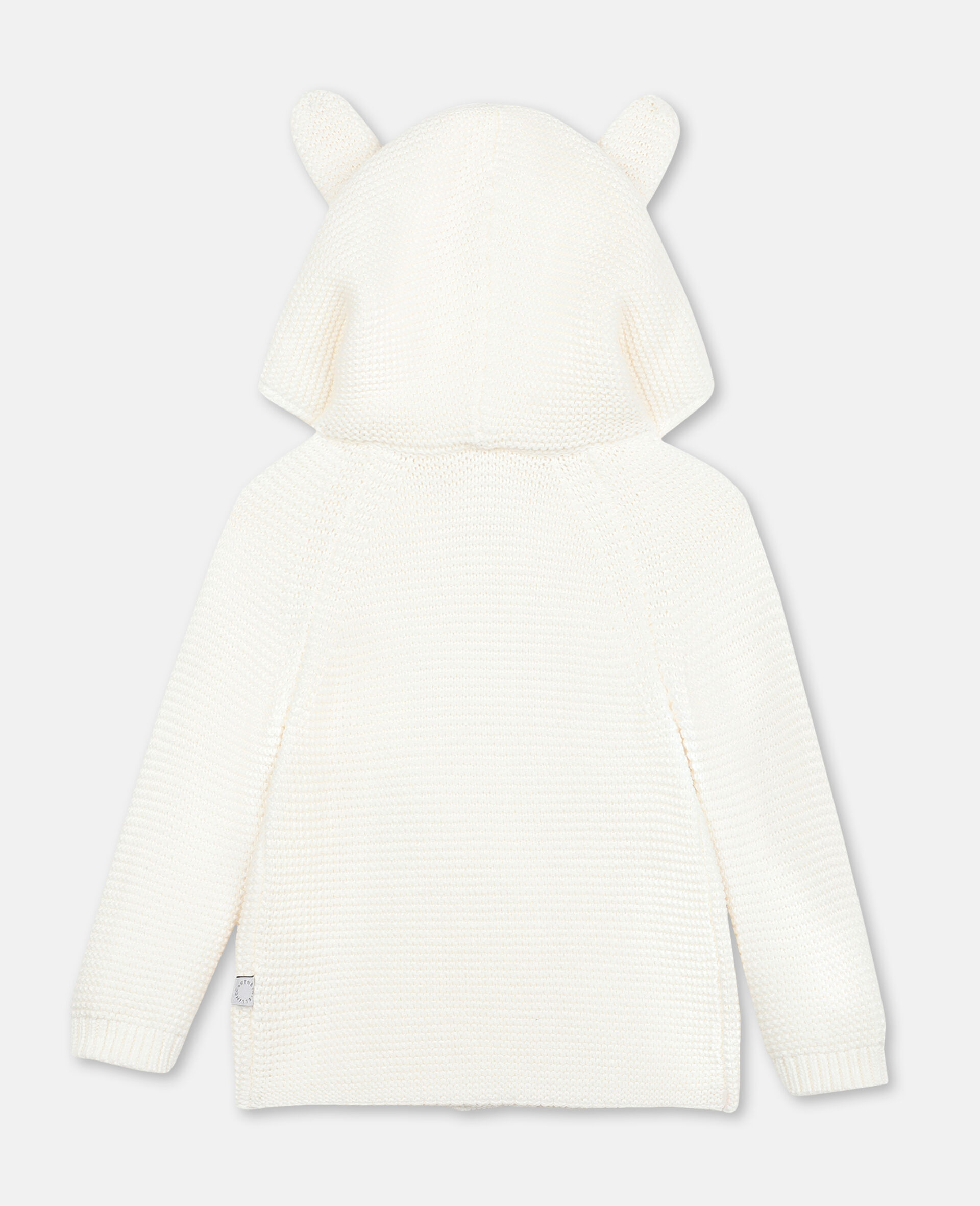 Bunny Knit Cardigan-White-large image number 3