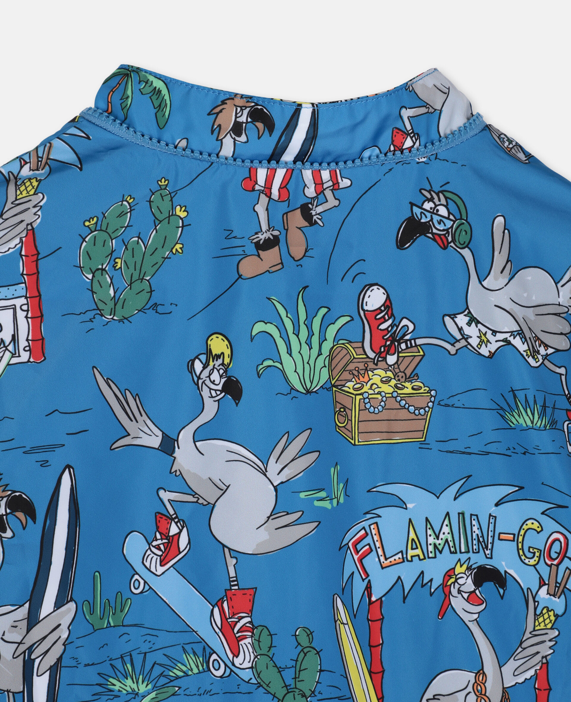Flamingo Land Jacket -Blue-large image number 2