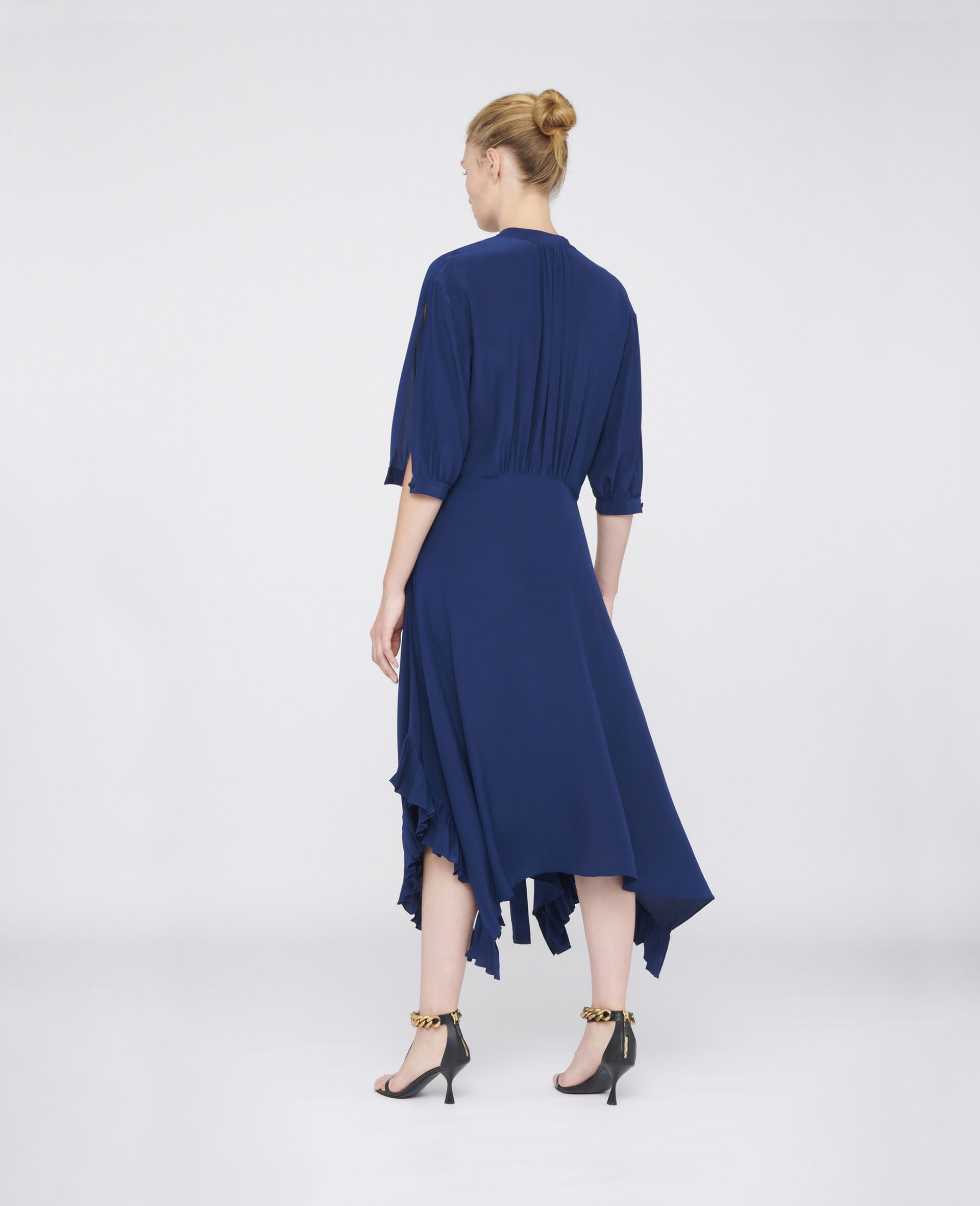 Ophelia Silk Dress-Blue-large image number 2
