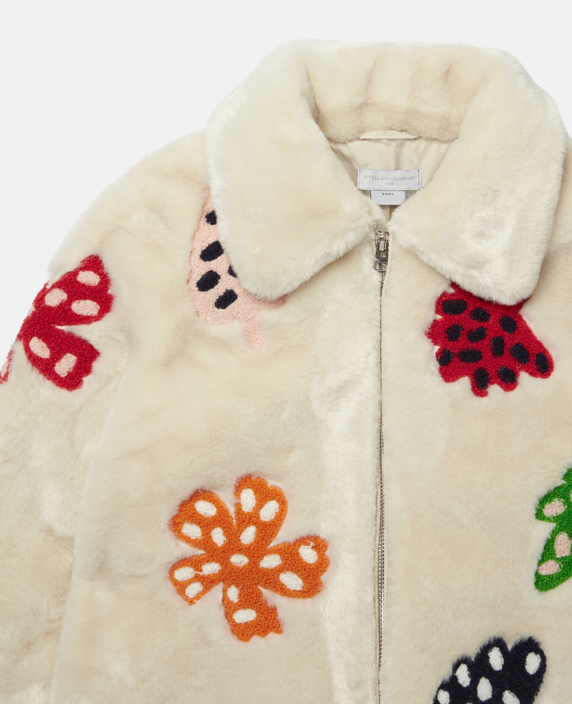 Embroidered Spotty Leaves FFF Jacket -White-large image number 2