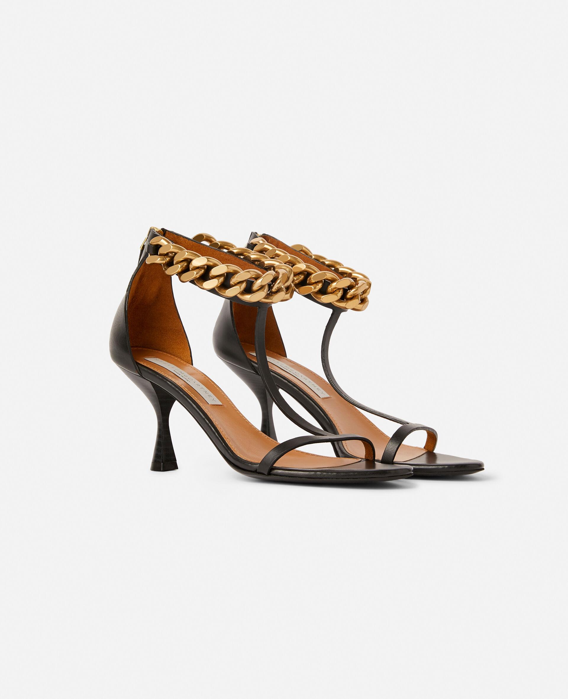 Falabella Heel Sandal -Black-large image number 1