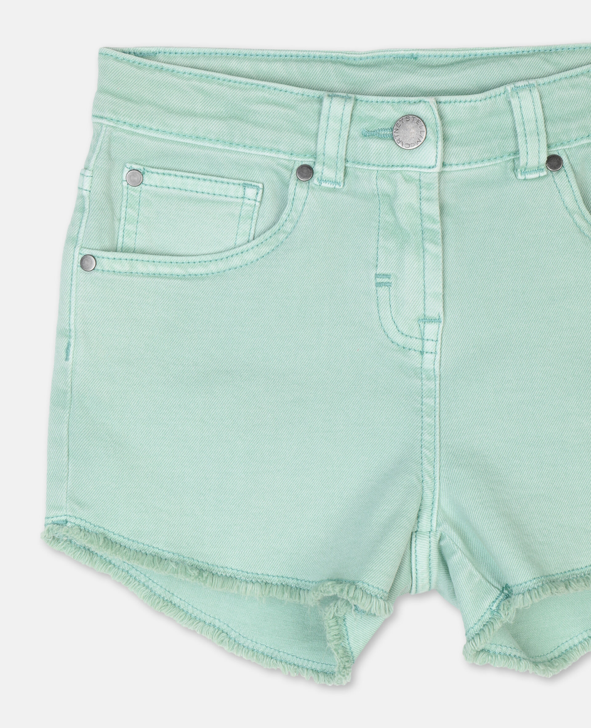 Denim Mint Shorts -Green-large image number 1