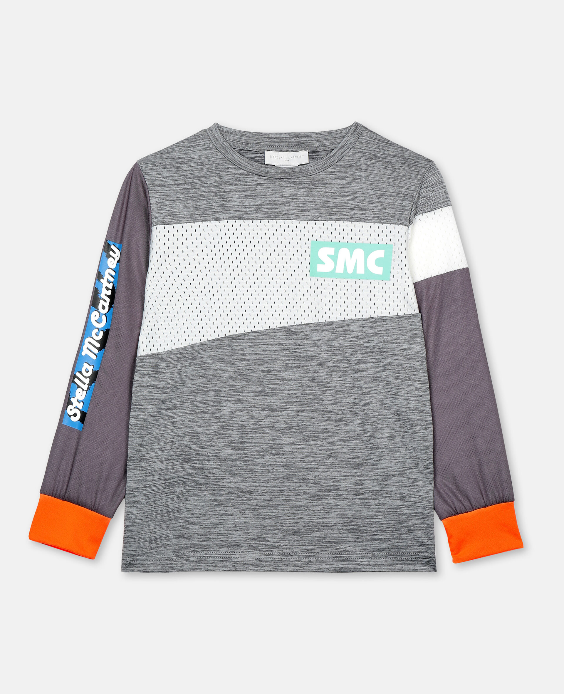 Space Dye Active T-shirt -Grey-large image number 0