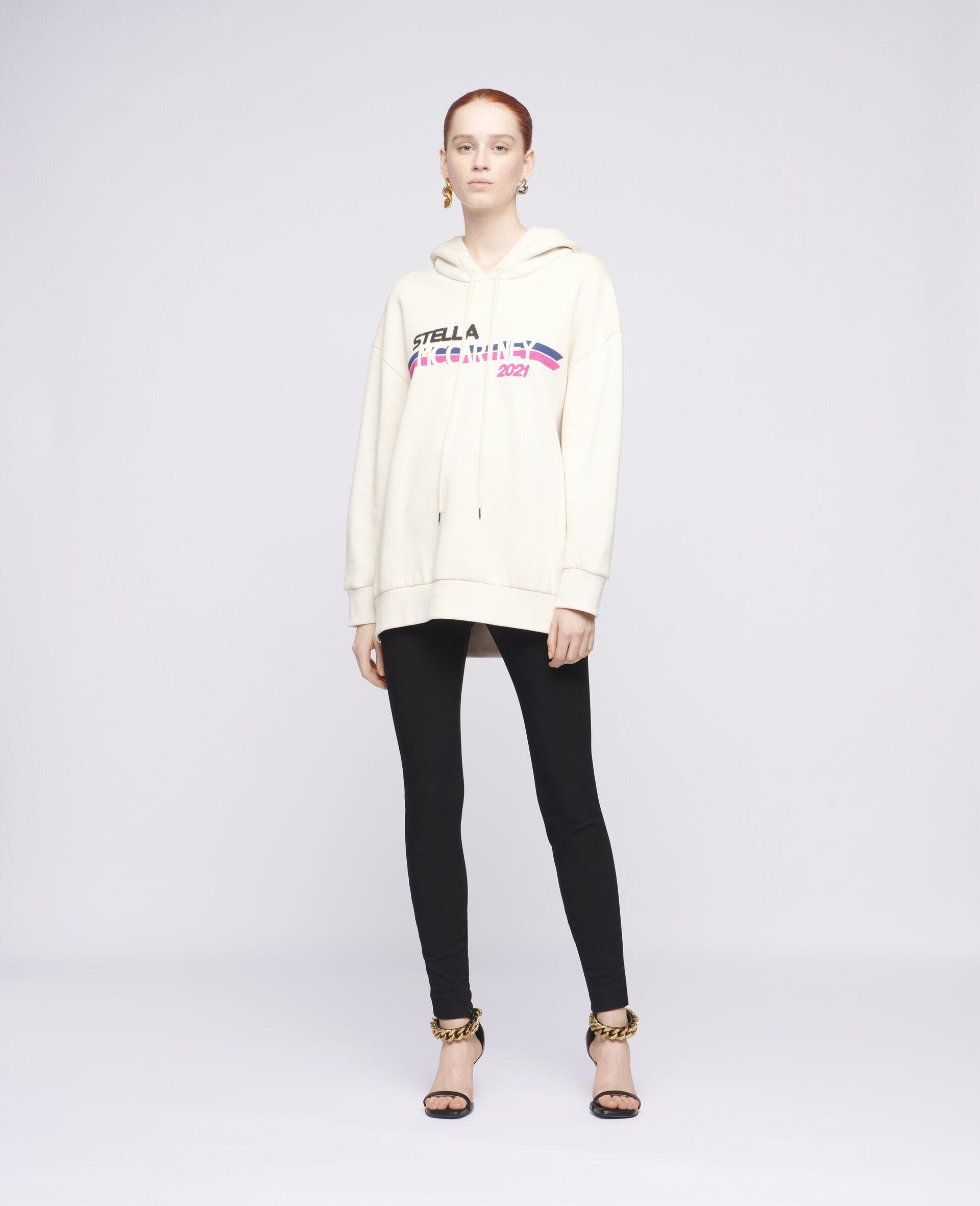 Sweat-shirt à capuche à logo Stella McCartney2021-Blanc-large image number 1
