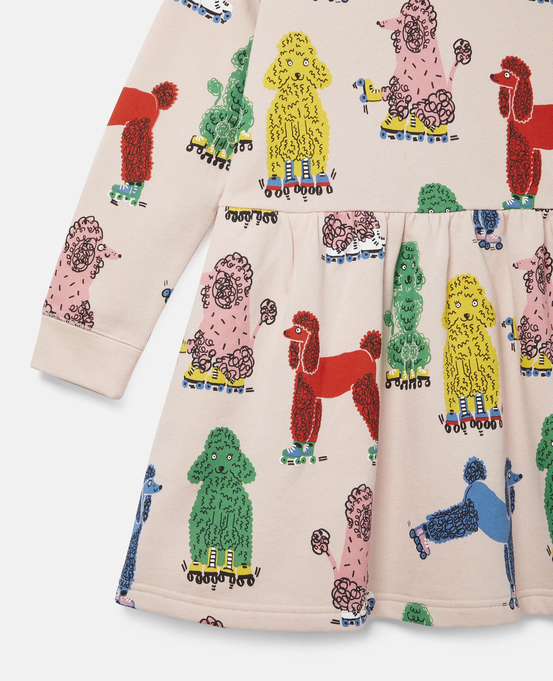 Doodle Poodles Fleece Dress -Pink-large image number 1