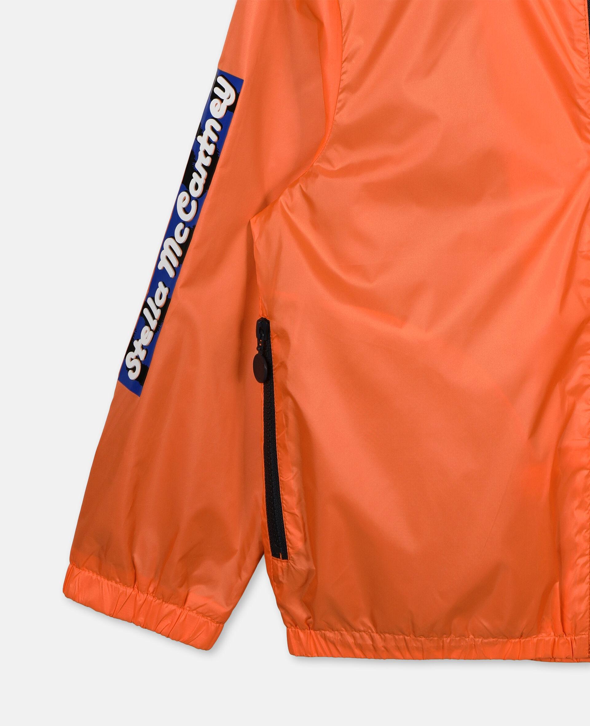 Logo Nylon Active Jacket -Orange-large image number 1