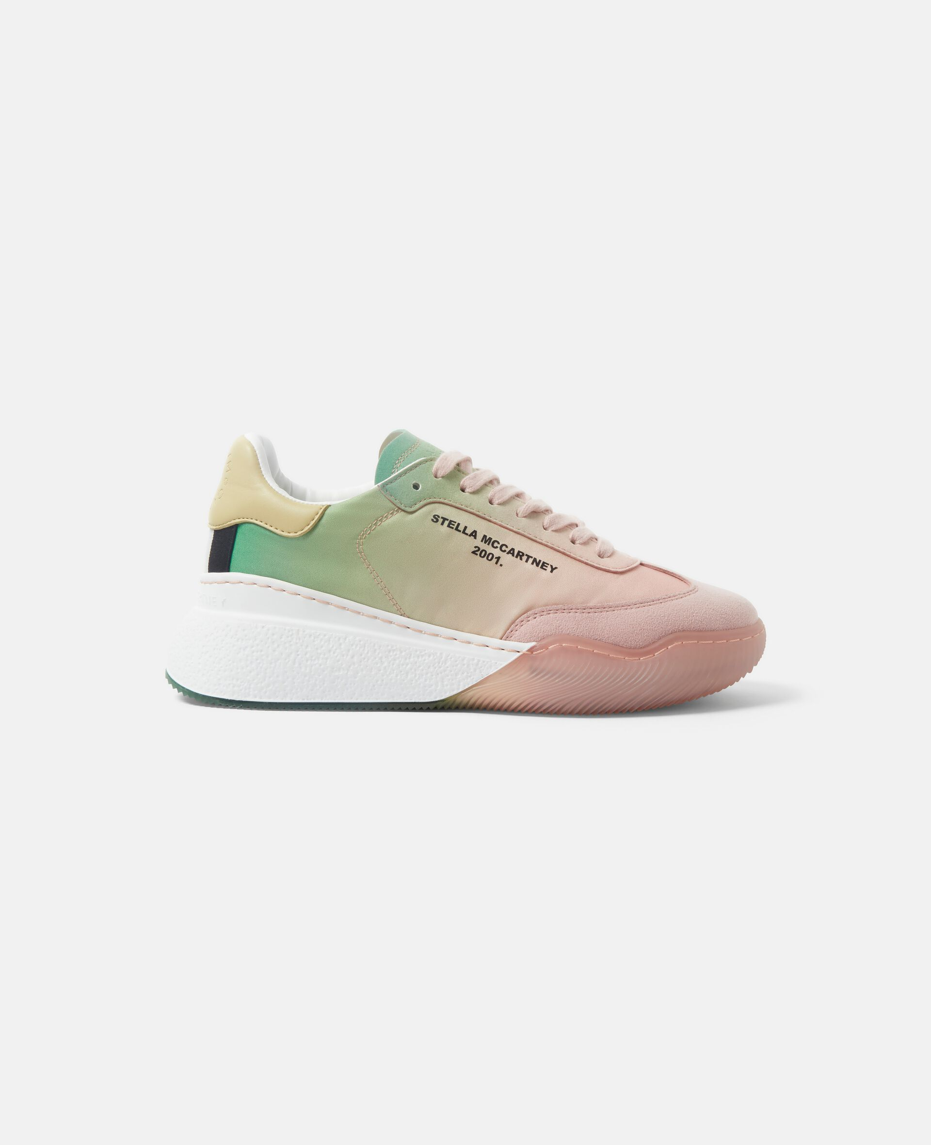 Geschnürte Sneaker mit Schlaufe-Rose-large image number 0