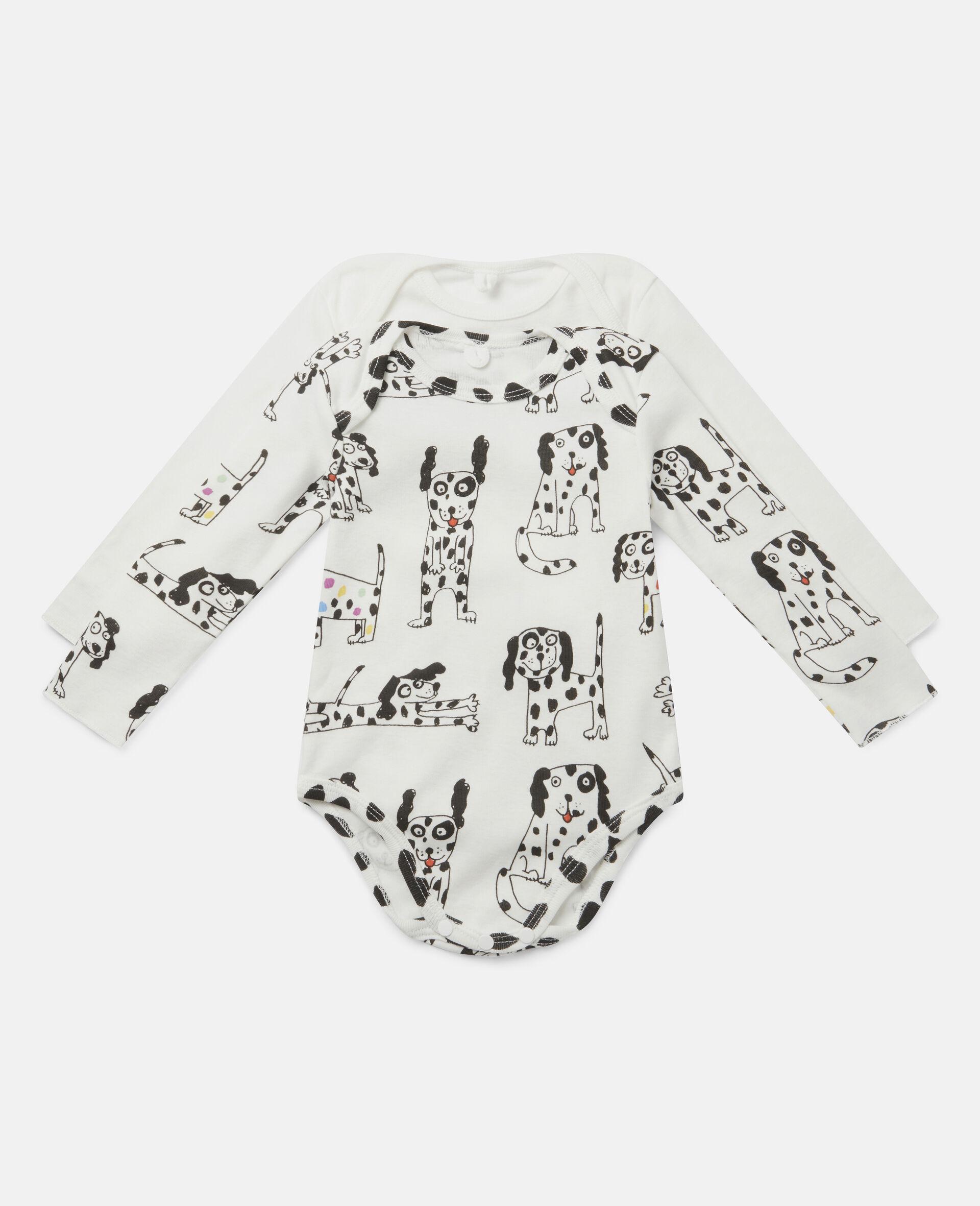 Ensemble de bodys en jersey côtelé à dalmatiens-Blanc-large image number 0