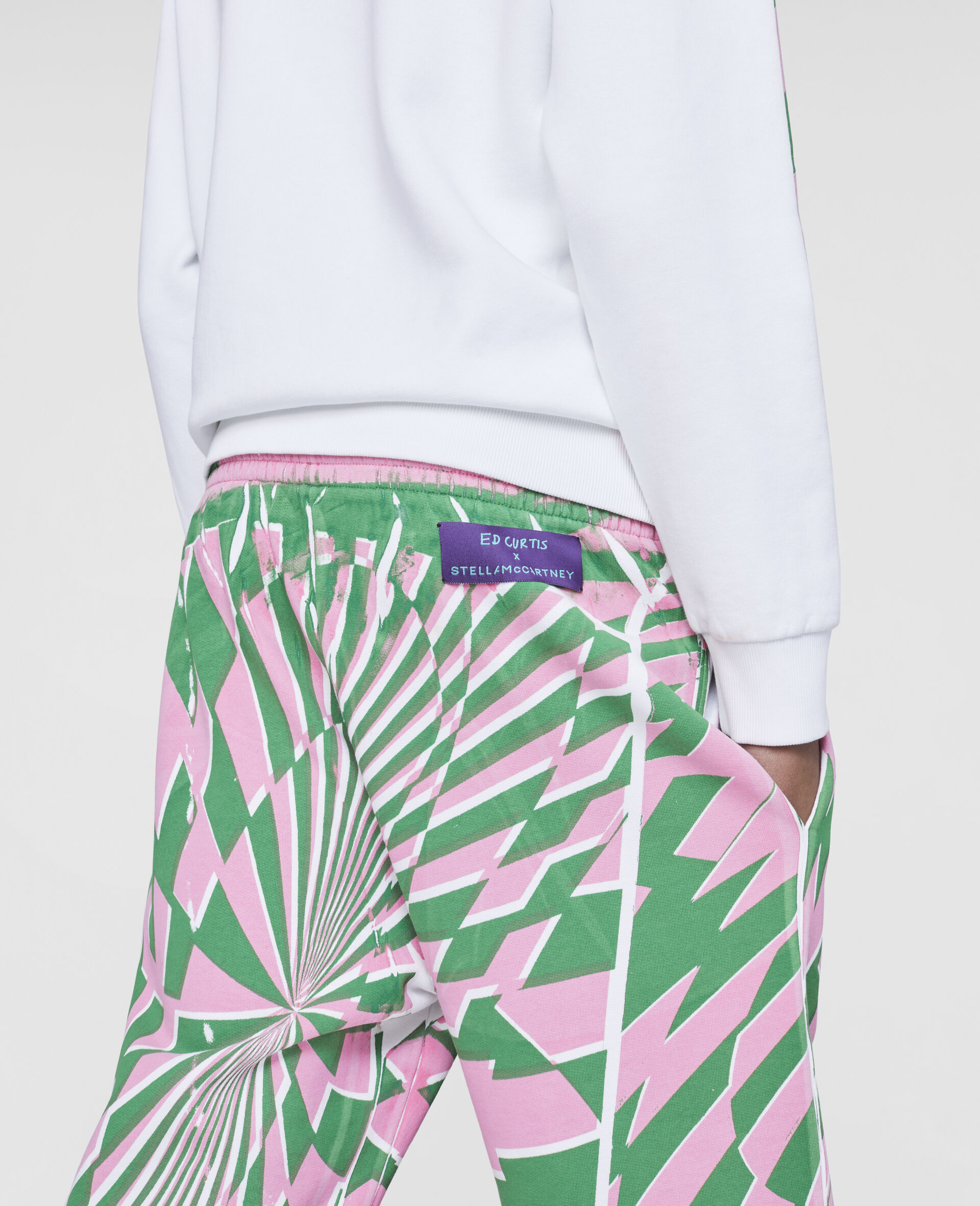 Ed Curtis Psychedelic Sweatpants-Multicolour-large image number 4