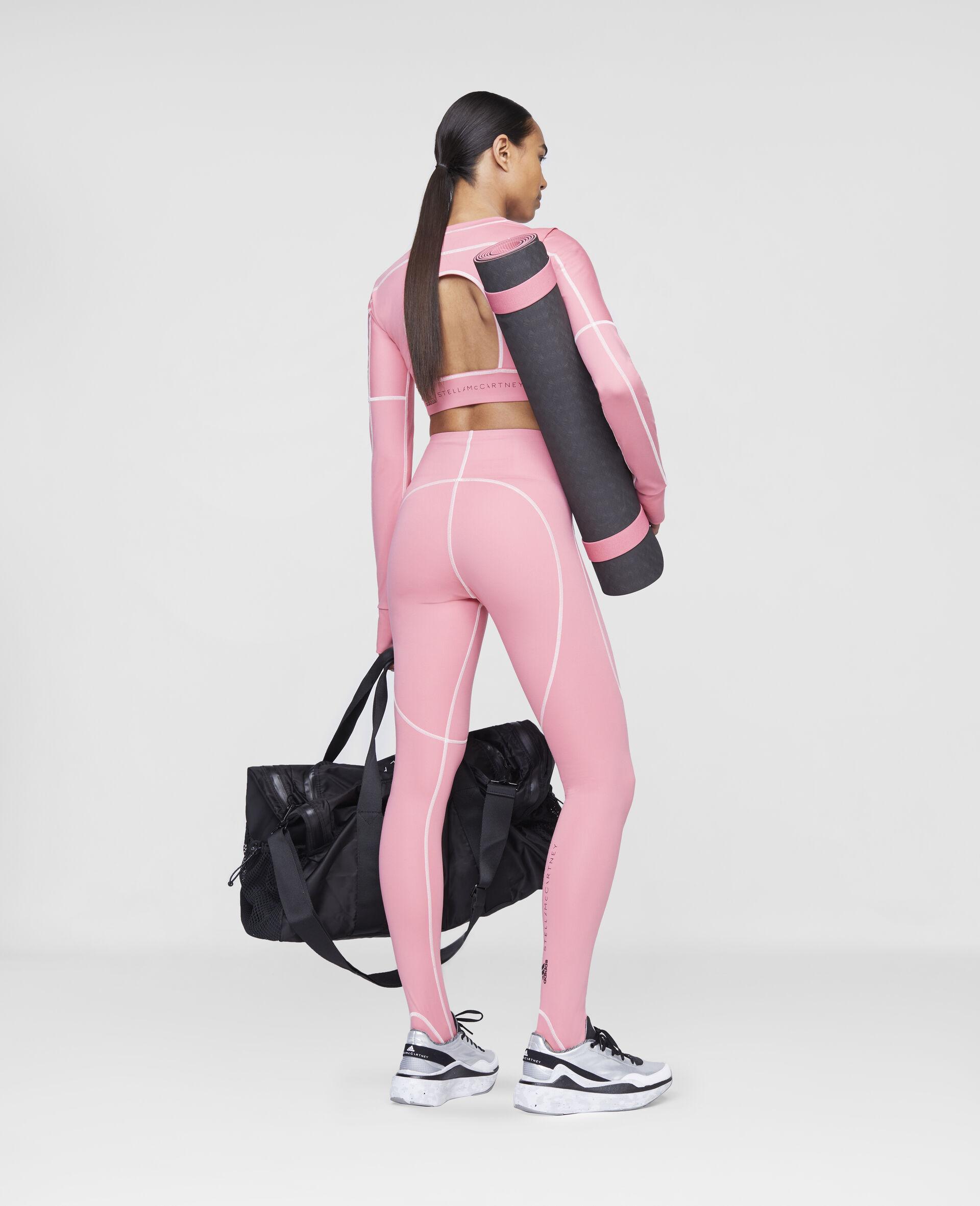 Hazy Rose Yoga High Waist Tights-Pink-large image number 2