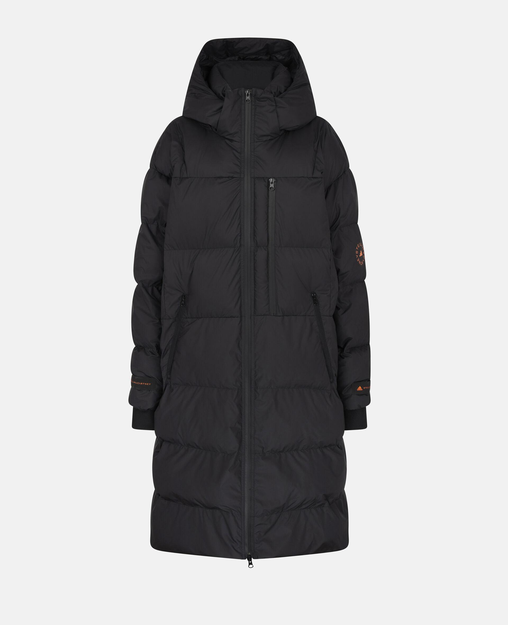 Long Training Puffer Jacket-Black-large image number 0