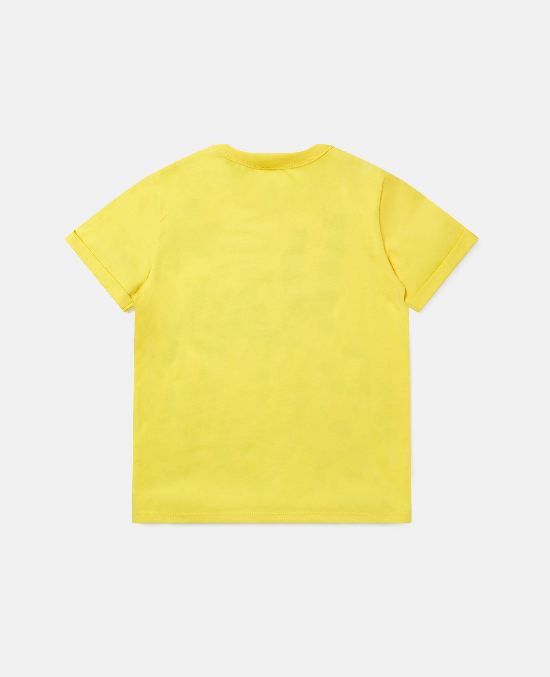 T-Shirt aus Baumwolle mit Dalmatiner-Print -Gelb-large image number 3