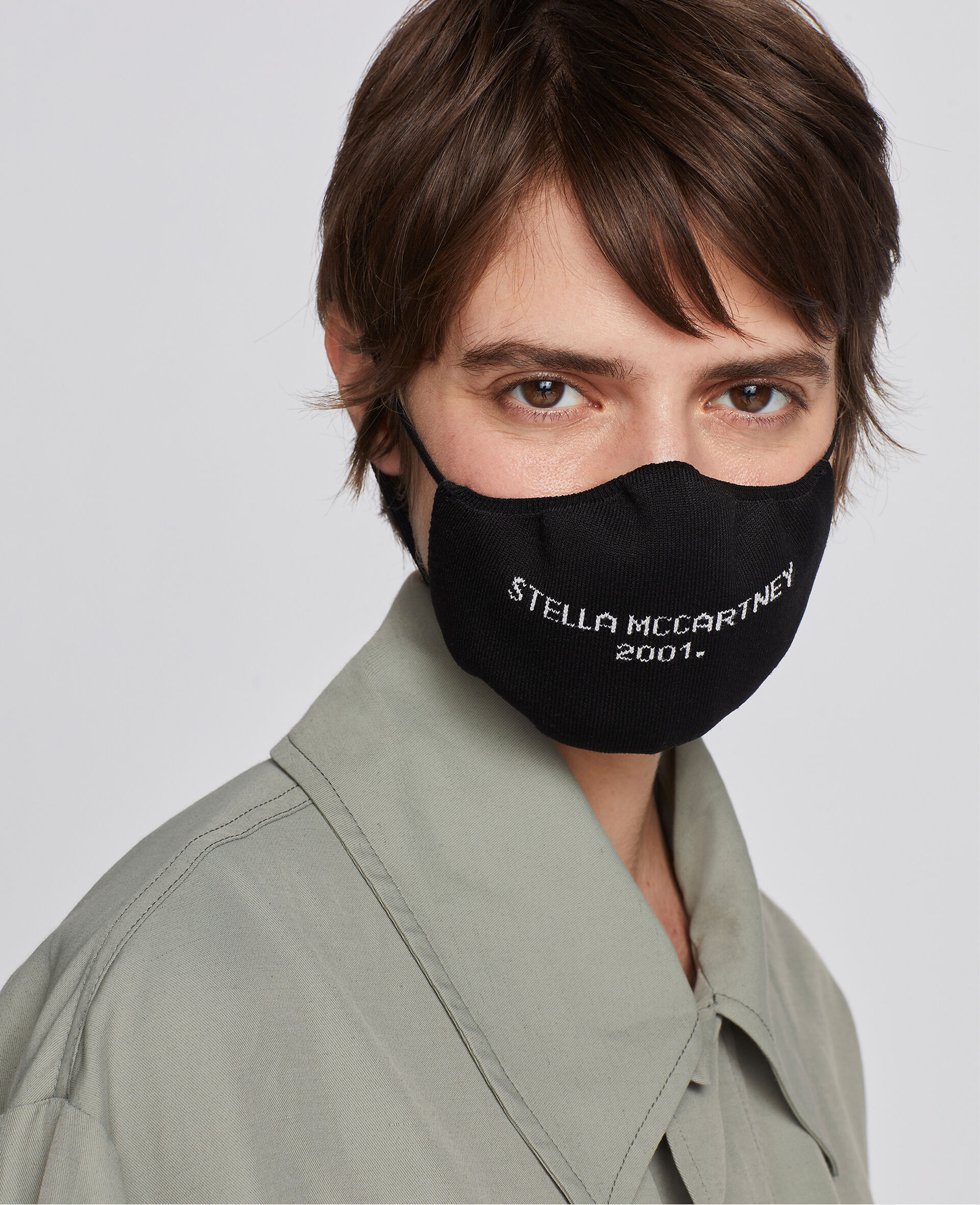 'Stella McCartney 2001' Face Mask -Black-large image number 1
