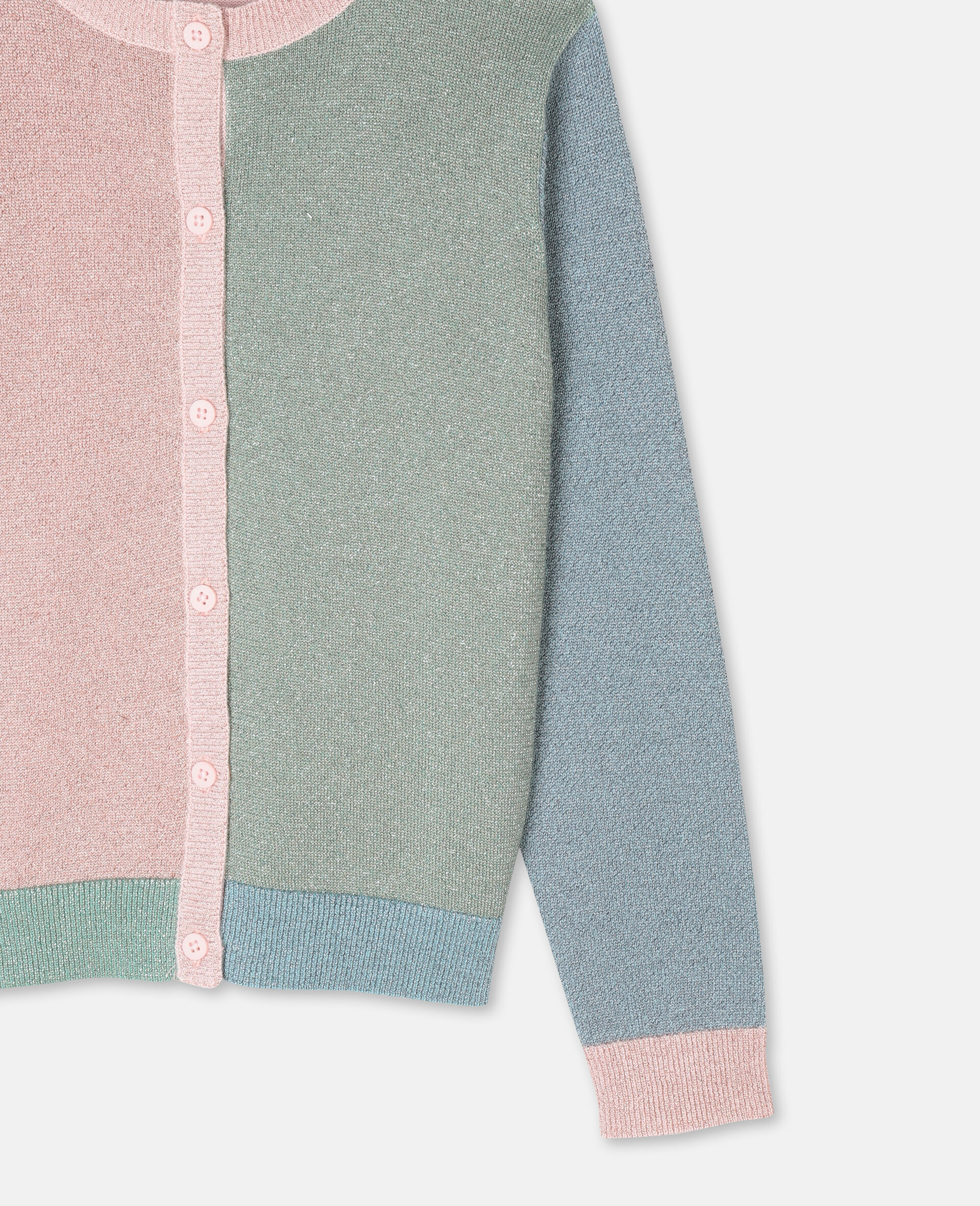 Multicolour Knit Cardigan -Pink-large image number 1