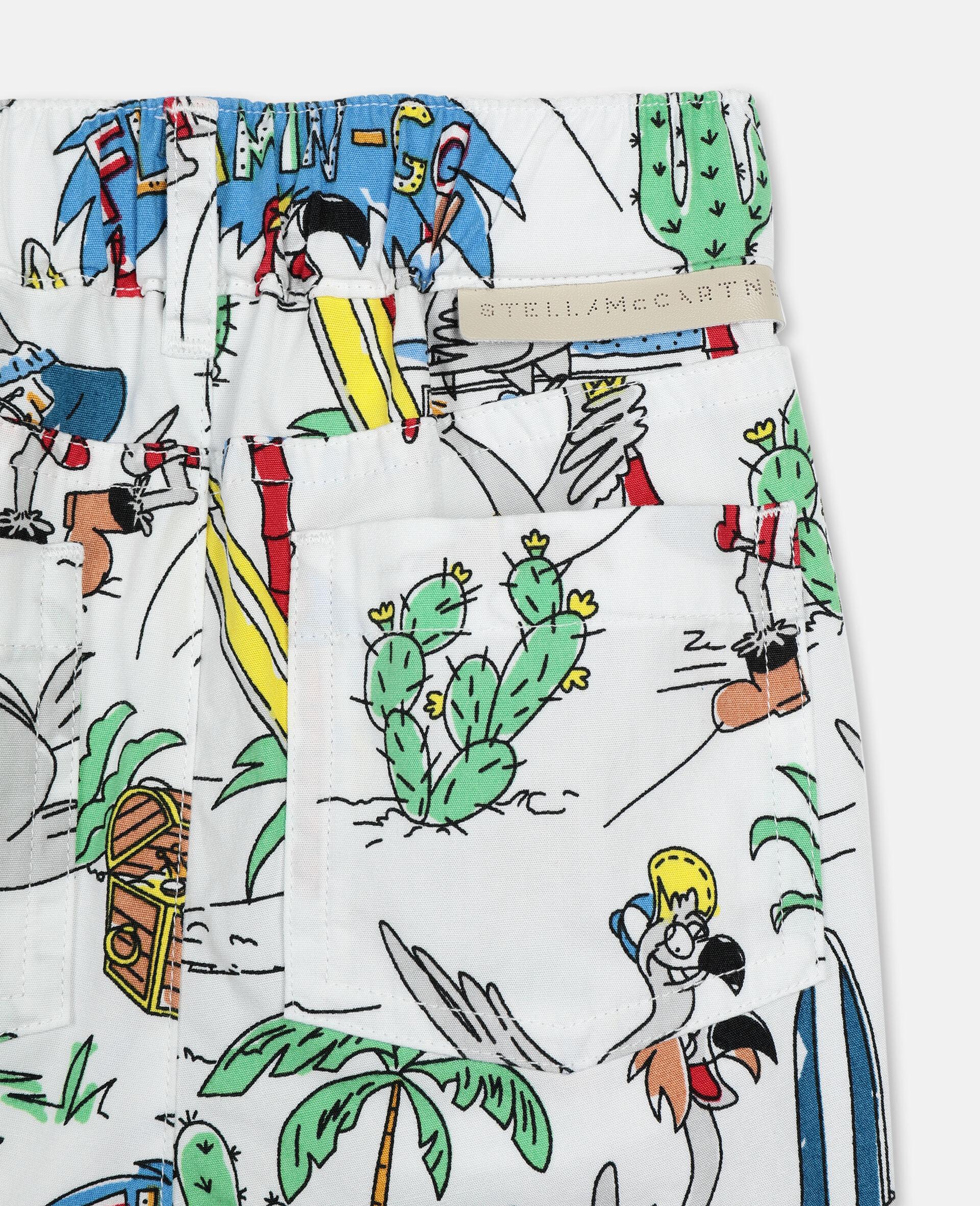 Flamingo Land Cotton Shorts -Multicoloured-large image number 1