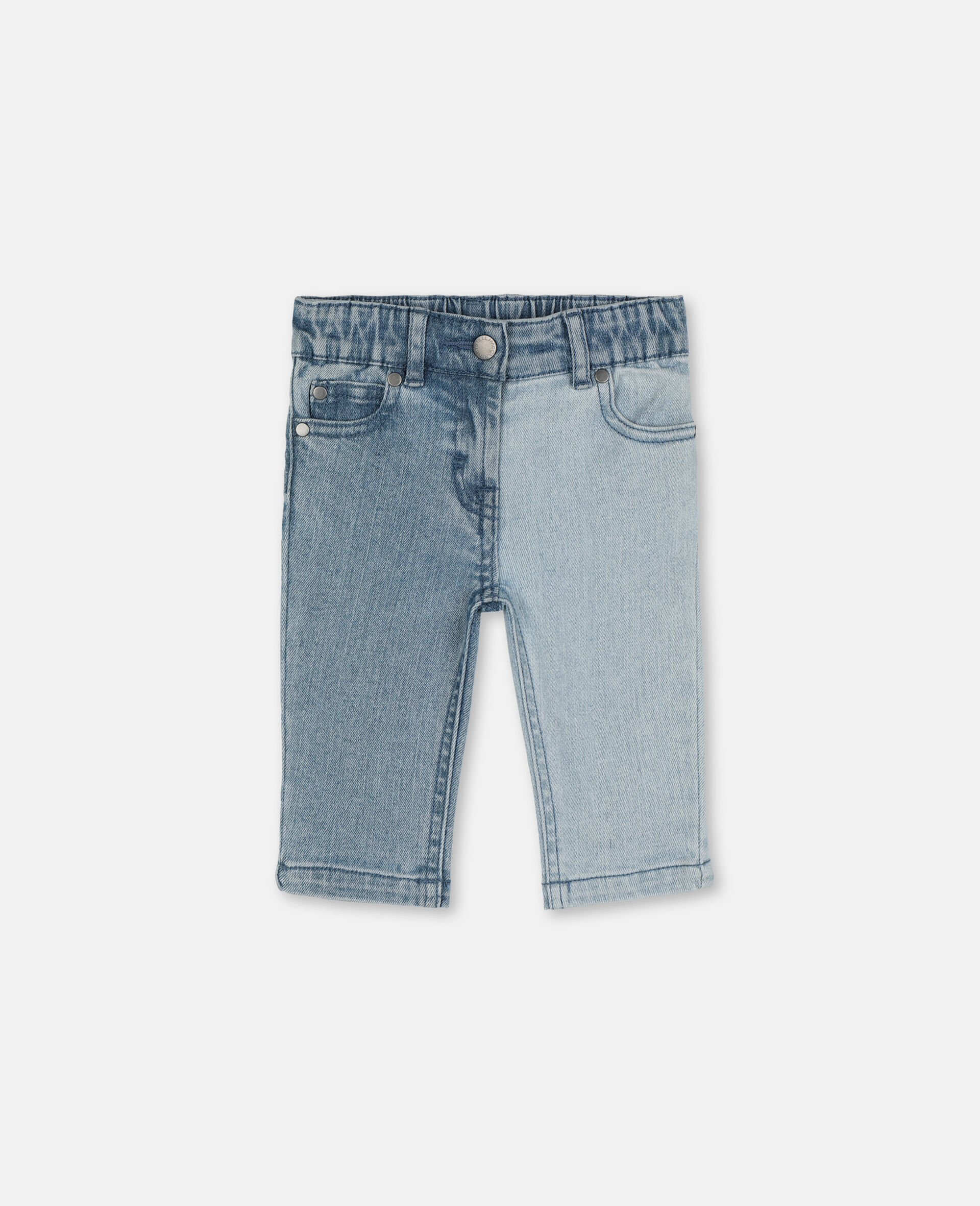Butterfly Slim Denim Pants-Blue-large image number 0