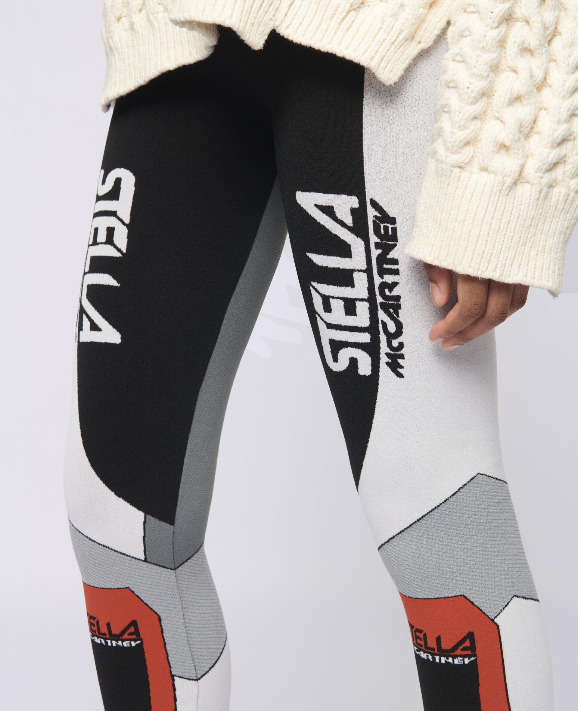 Stella Sporty 徽标贴腿裤-黑色-large image number 3