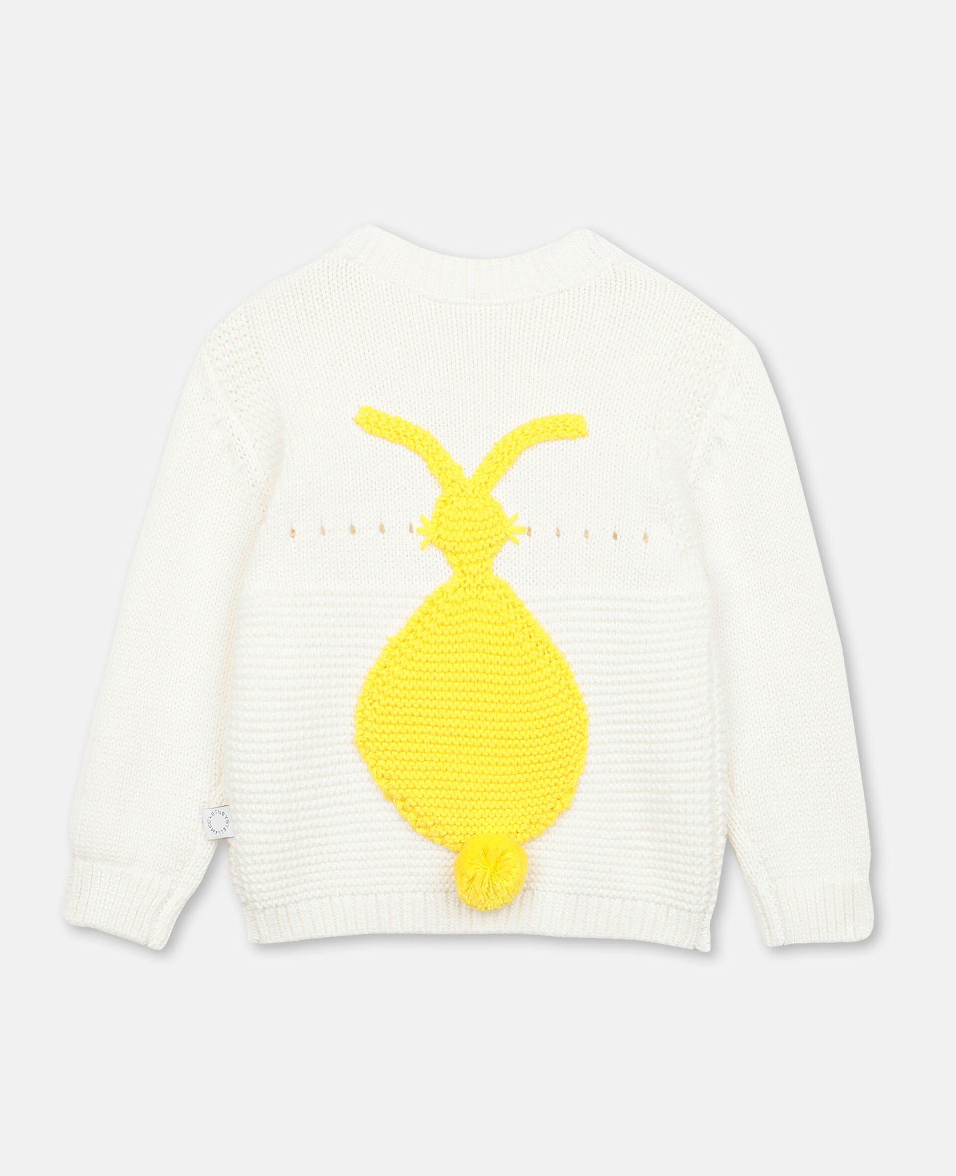 Bunny Knit Jumper -White-large image number 3