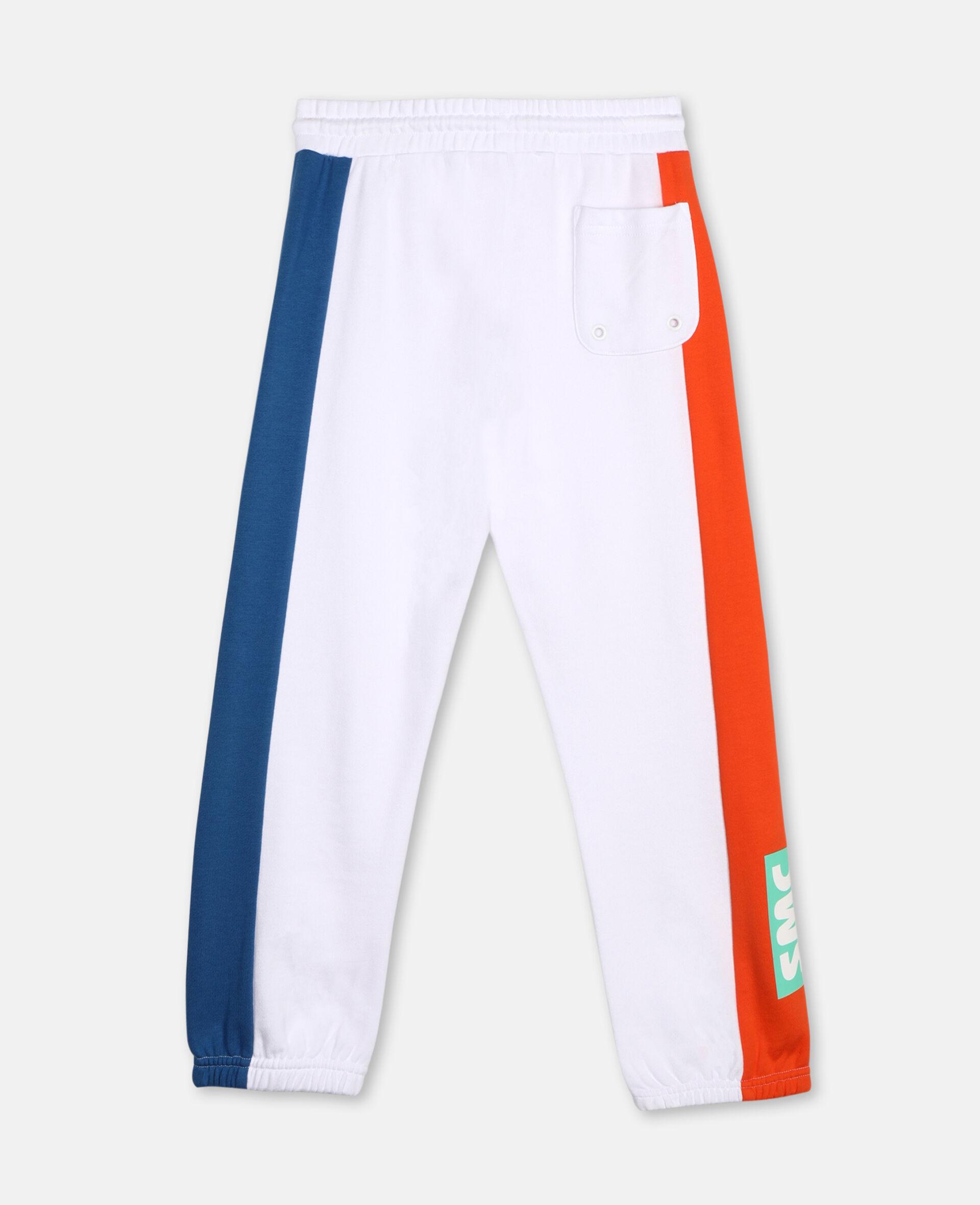 Pantalon de survêtement en coton avec logo -Blanc-large image number 3