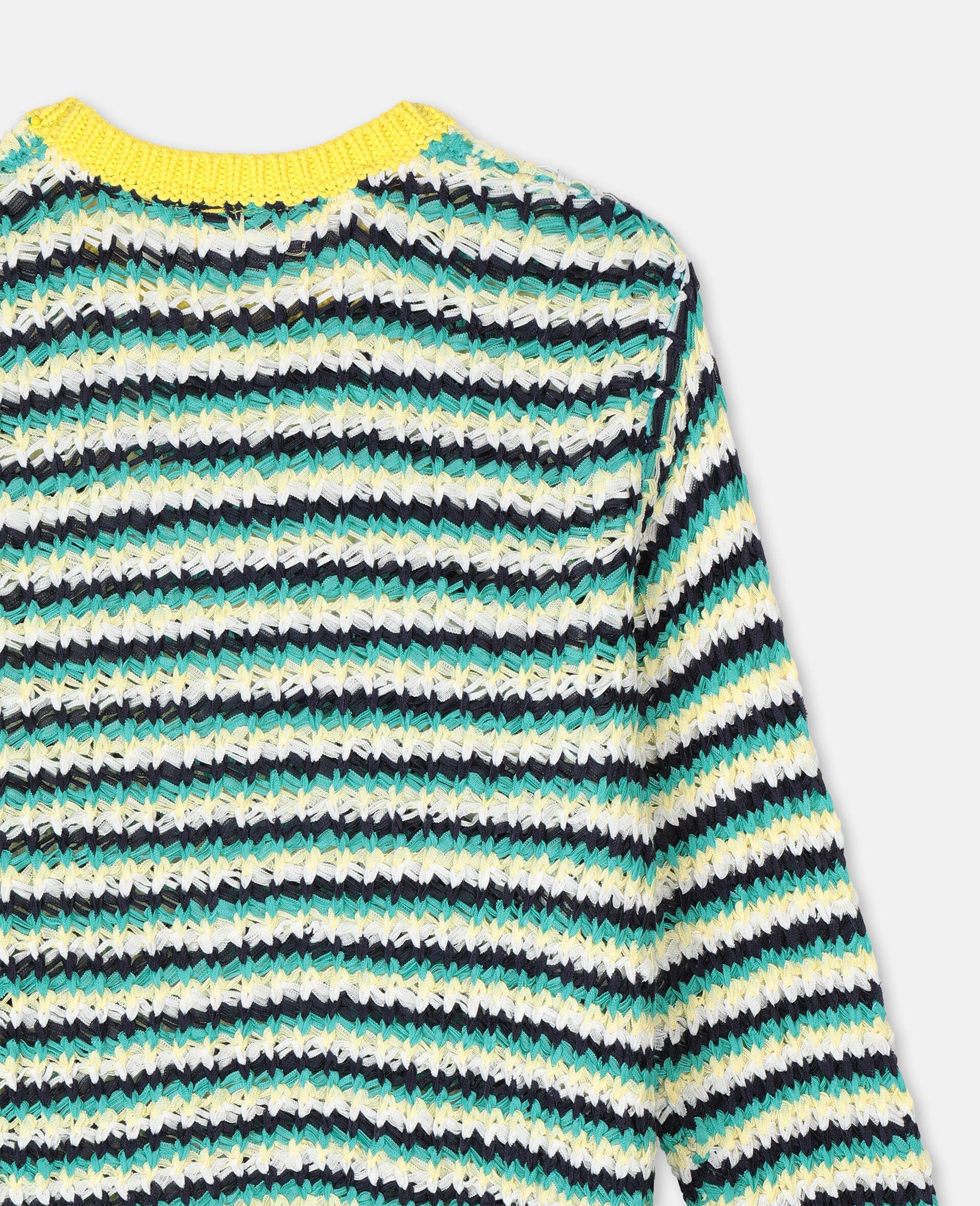 Pull en maille oversize avec motif zigzag -Fantaisie-large image number 2