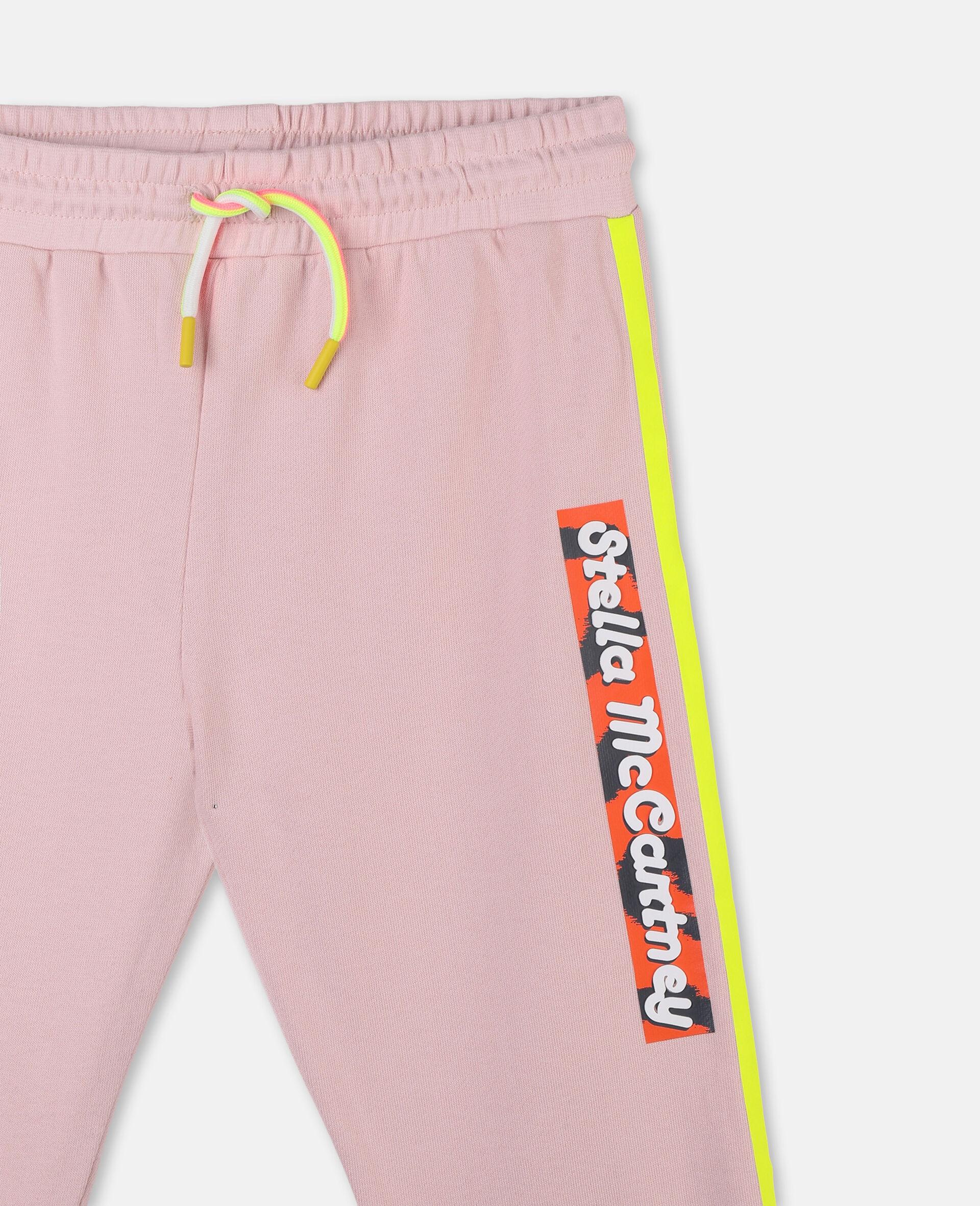 Logo Badge Cotton Fleece Sweatpants -Pink-large image number 1