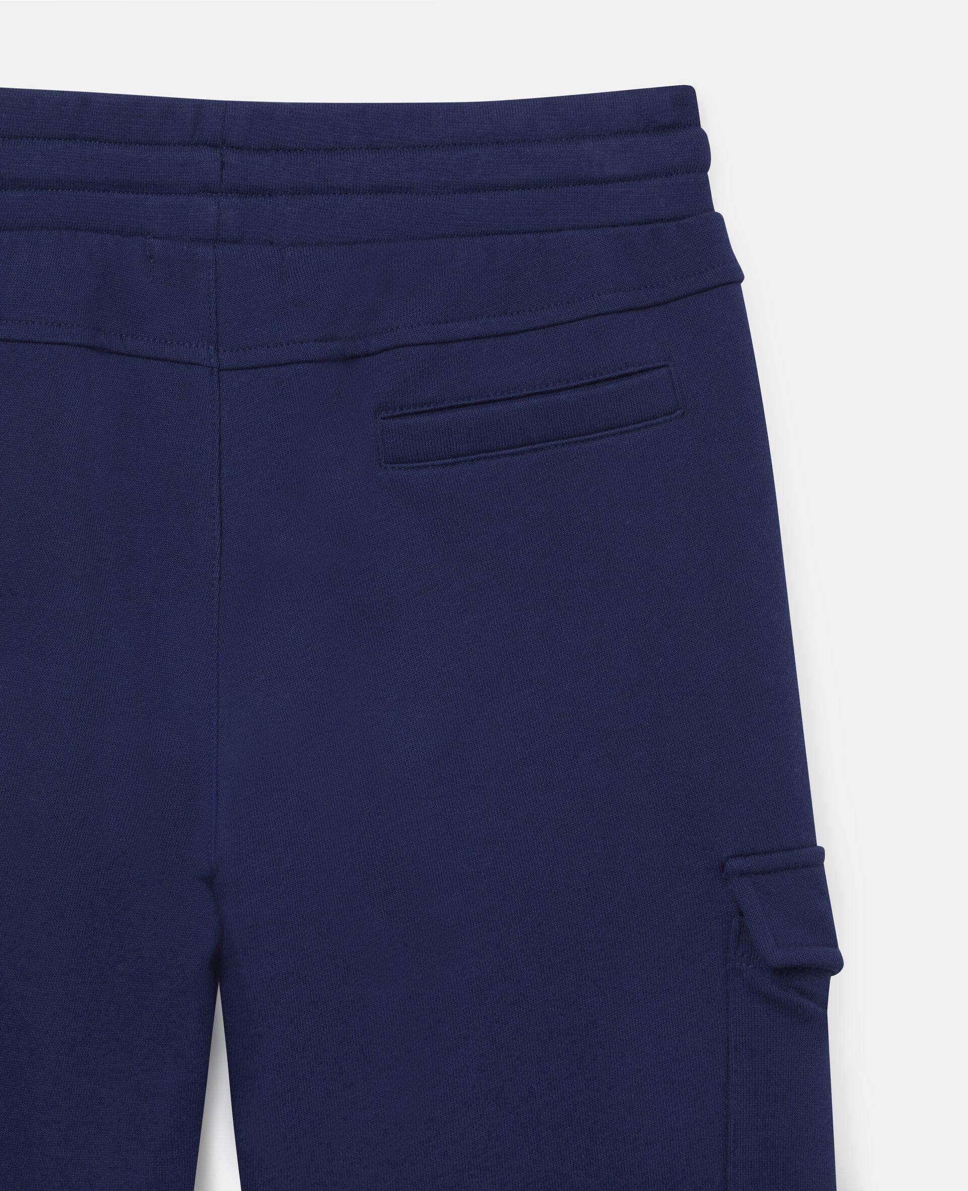 Cargo Fleece Joggers-Blue-large image number 2