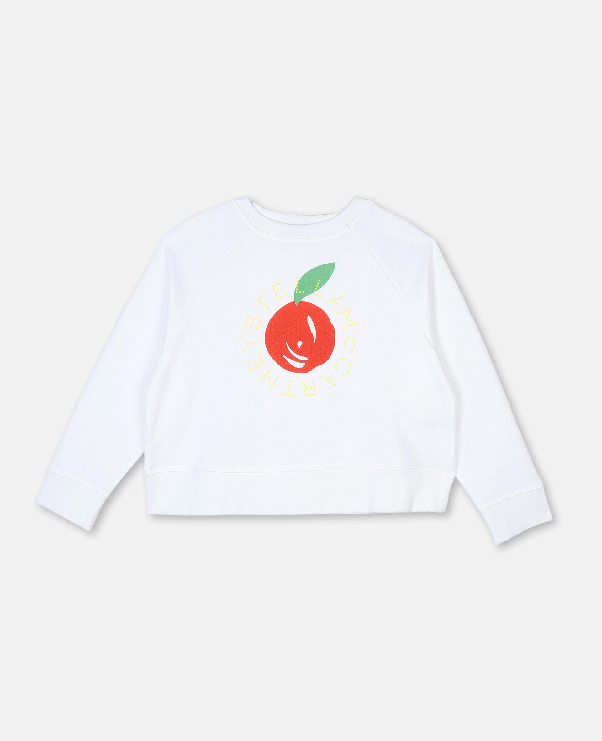 Clementine棉质抓绒Logo卫衣-白色-large image number 0