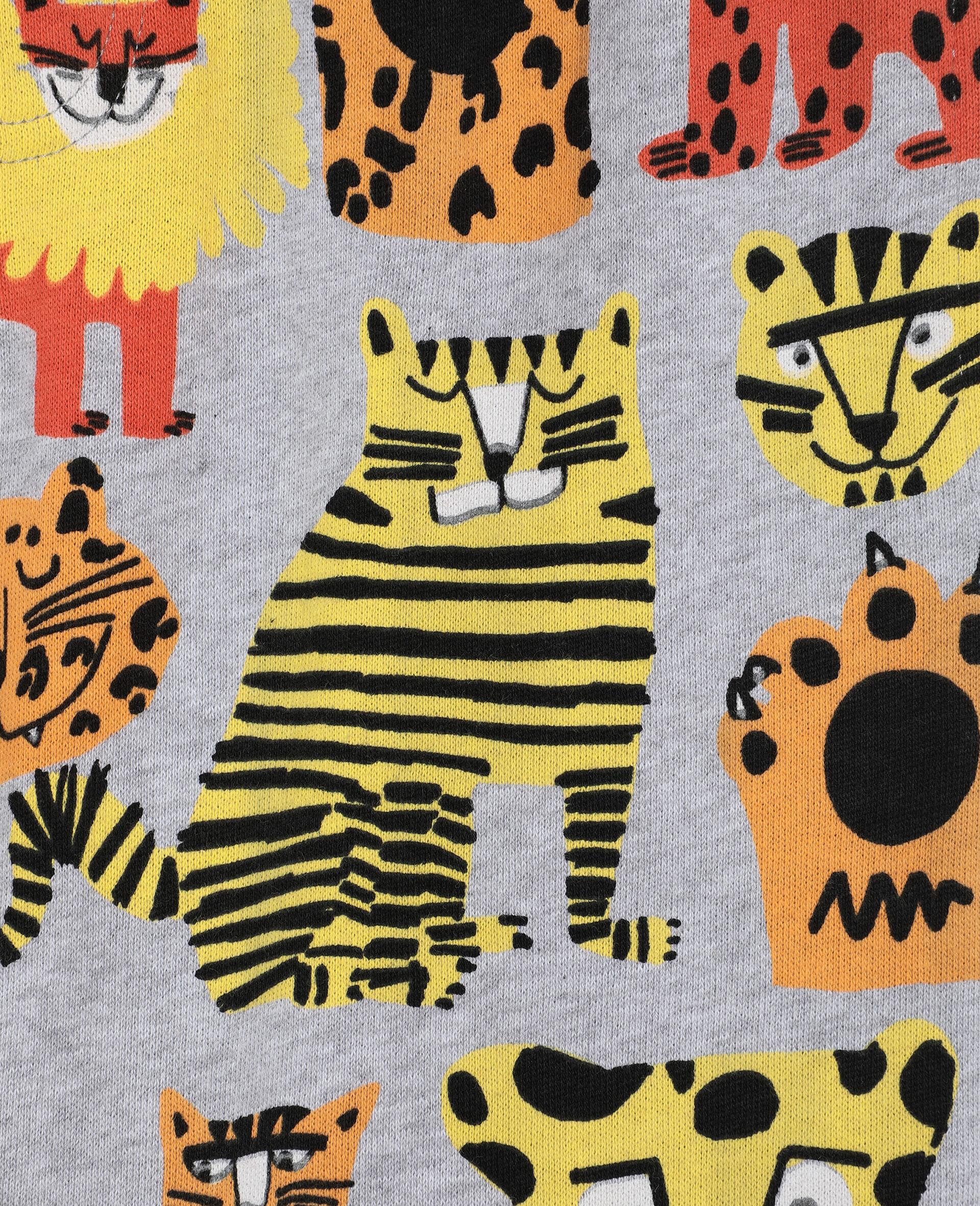 Pantalon de survêtement en coton à motif chats sauvages -Fantaisie-large image number 1