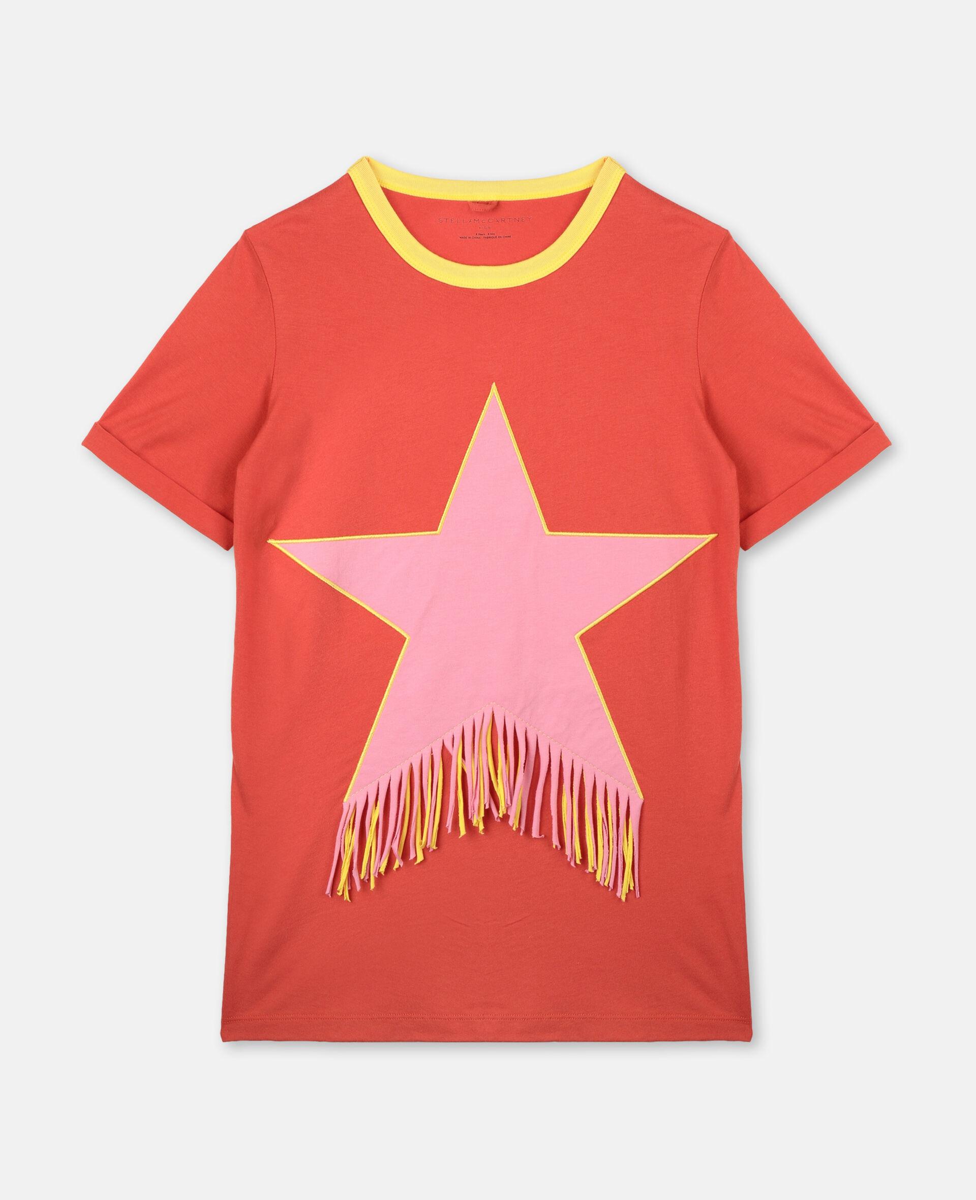 Star & Fringes Cotton Dress-Red-large image number 0