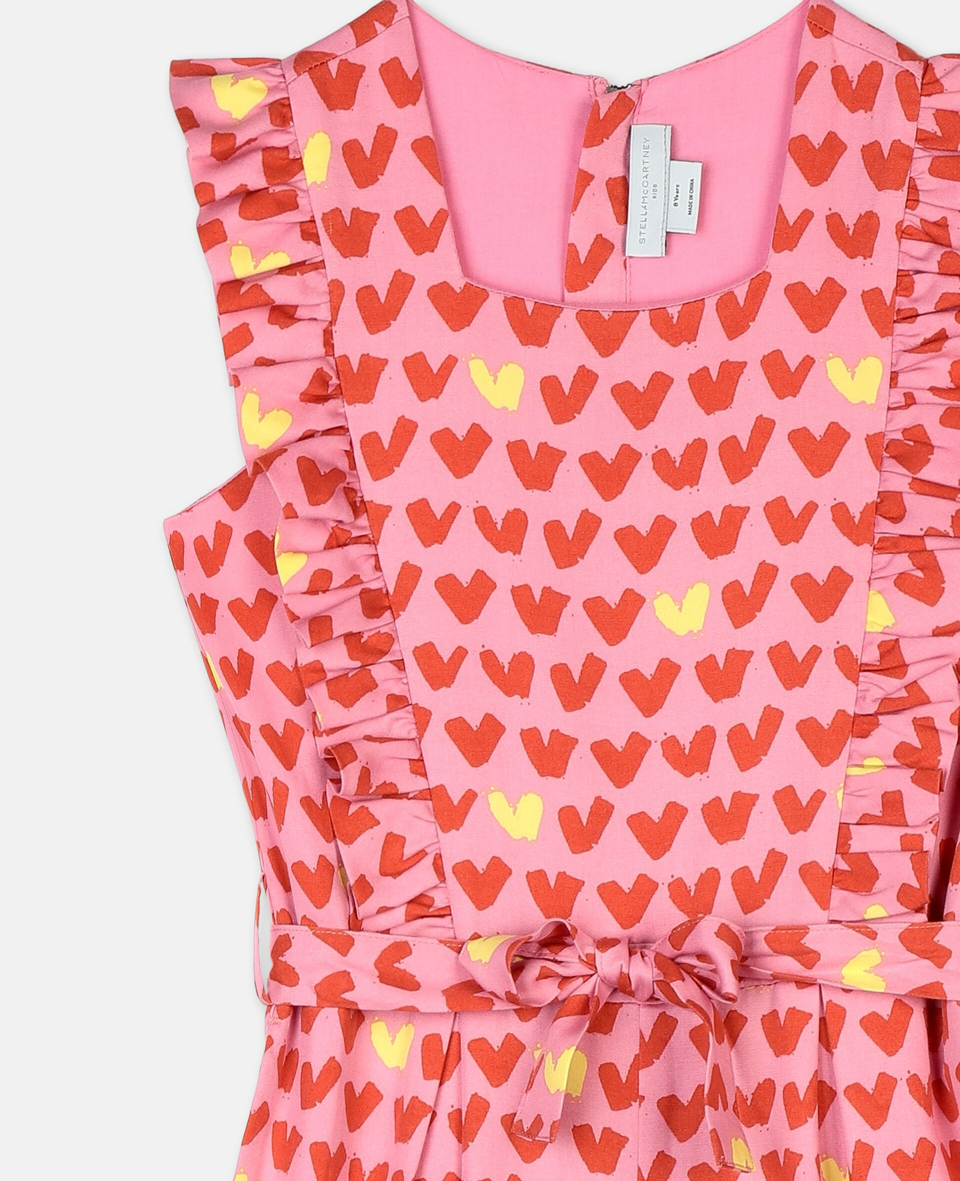 Hearts Tencel Twill All-In-One-Pink-large image number 1