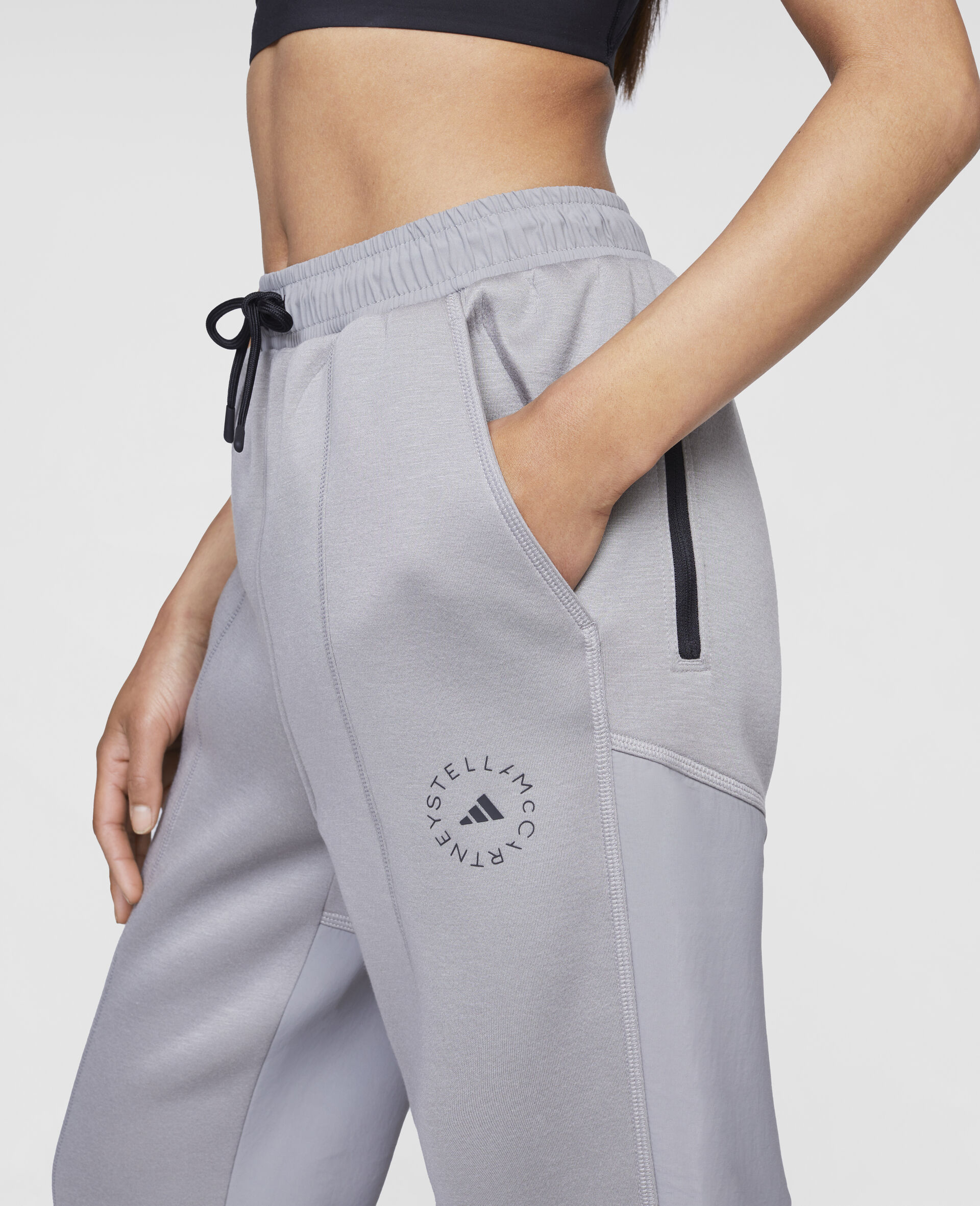 Grey Track Pants-Grey-large image number 3