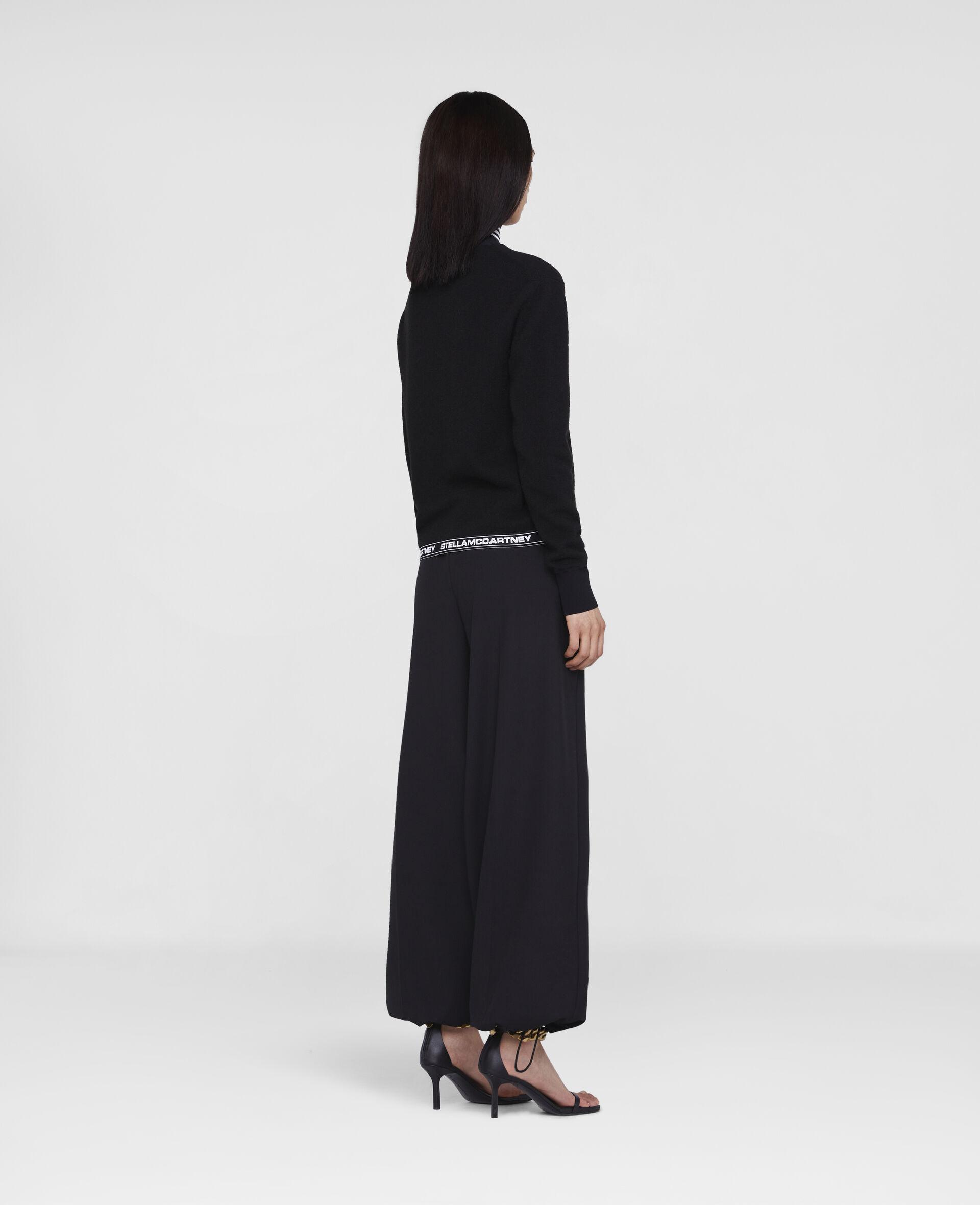 Pantaloni Sartoriali con Logo Stella -Nero-large image number 2