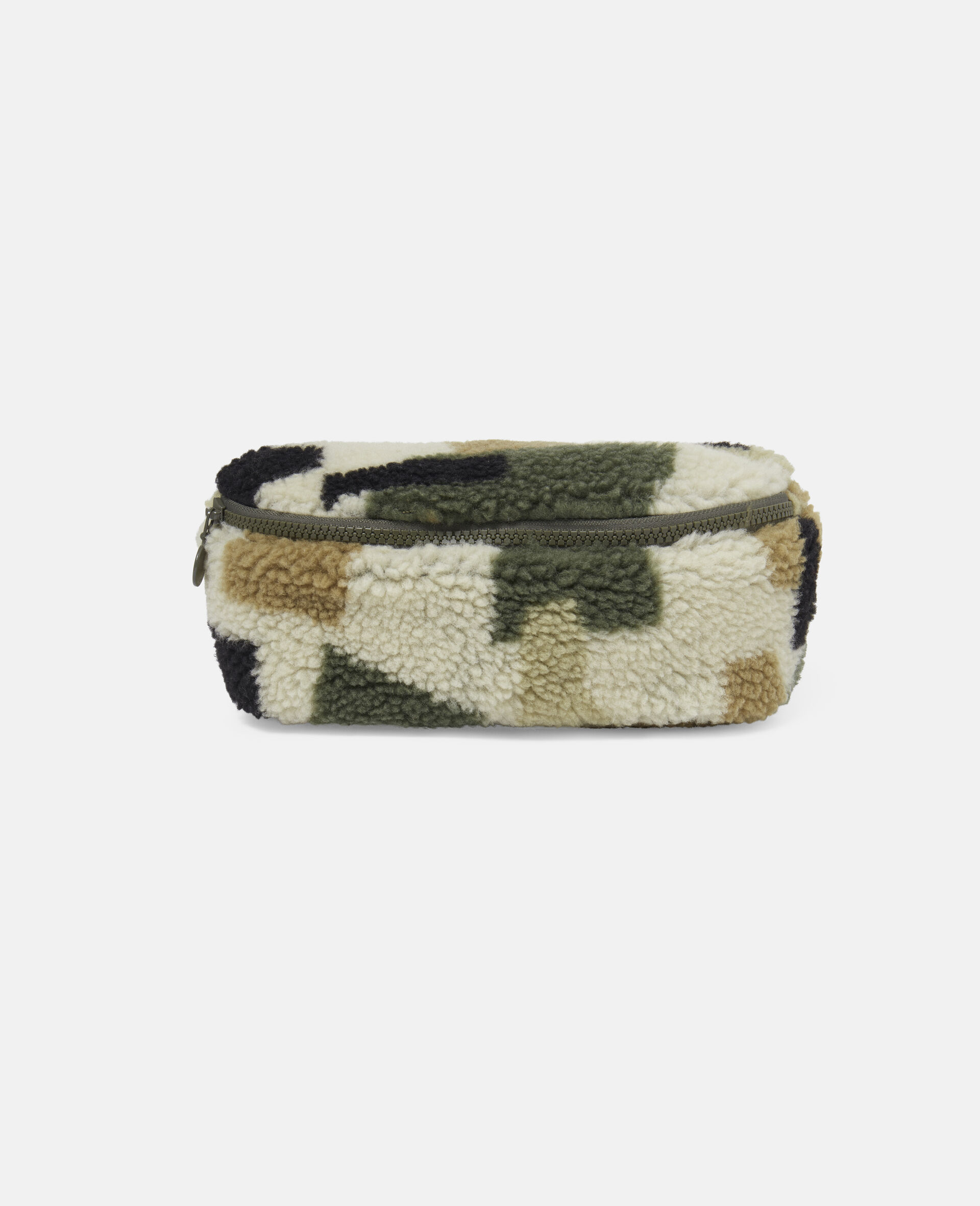 Military Camouflage Teddy Bum Bag-Beige-large image number 0