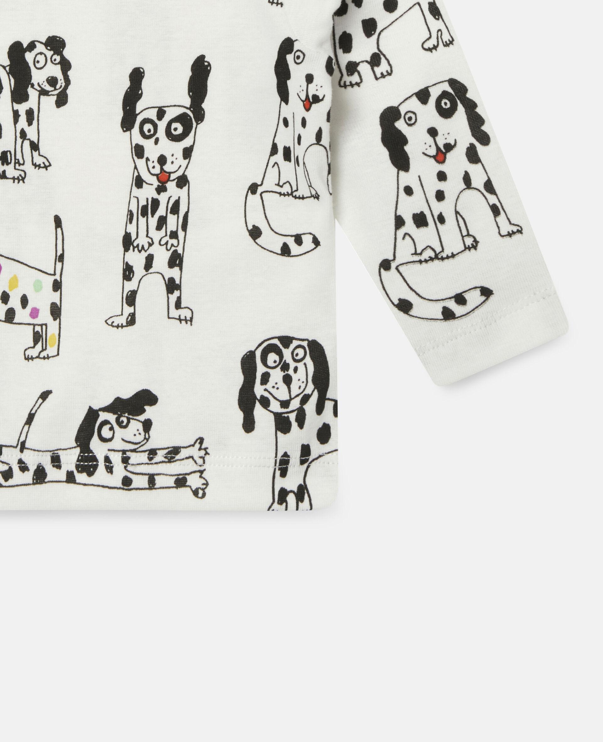 """Oberteil aus geripptem Jersey mit """"Doodle Dalmatians""""-Motiv-Weiß-large image number 2"""
