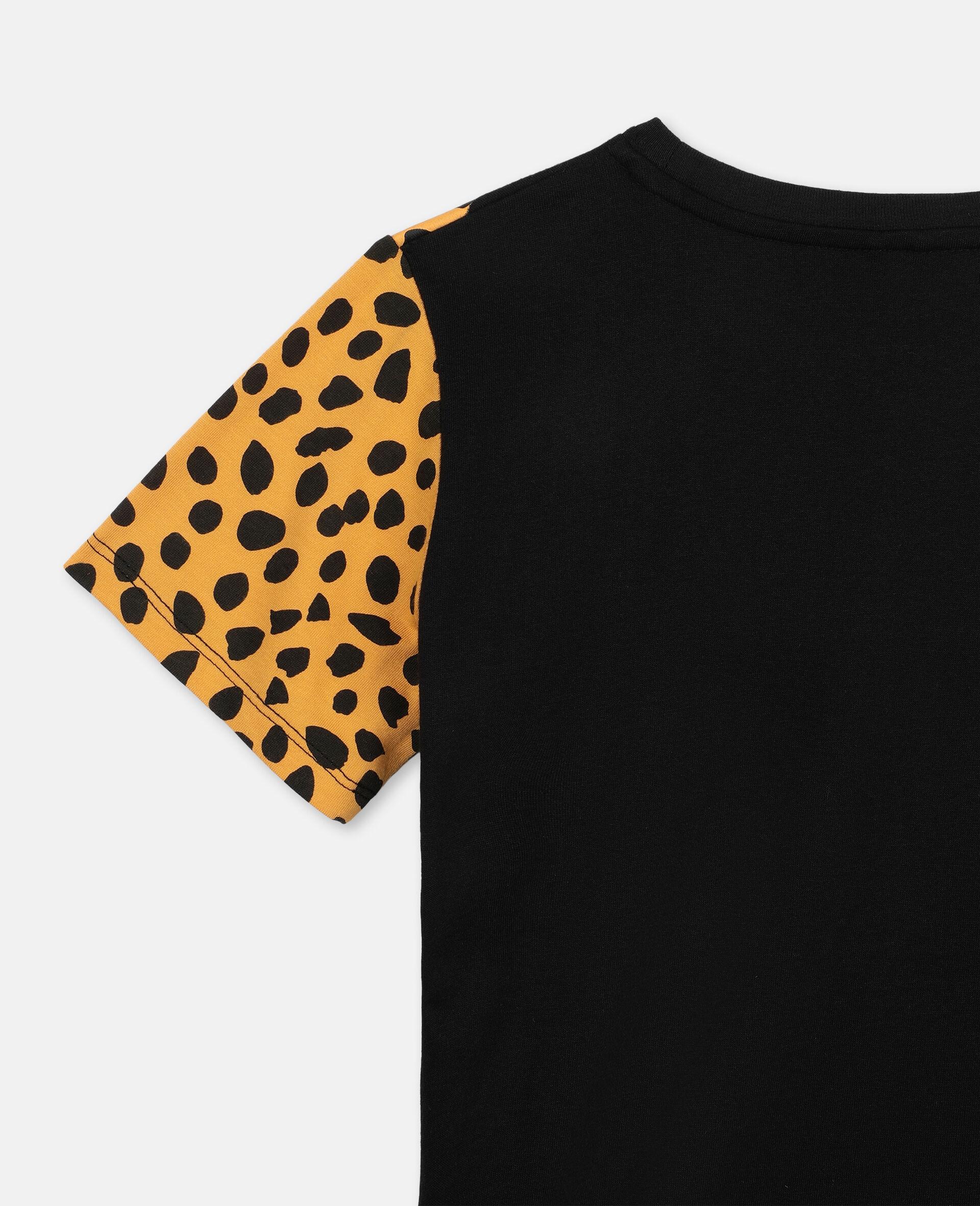 Cheetah Cotton T-shirt-Black-large image number 2