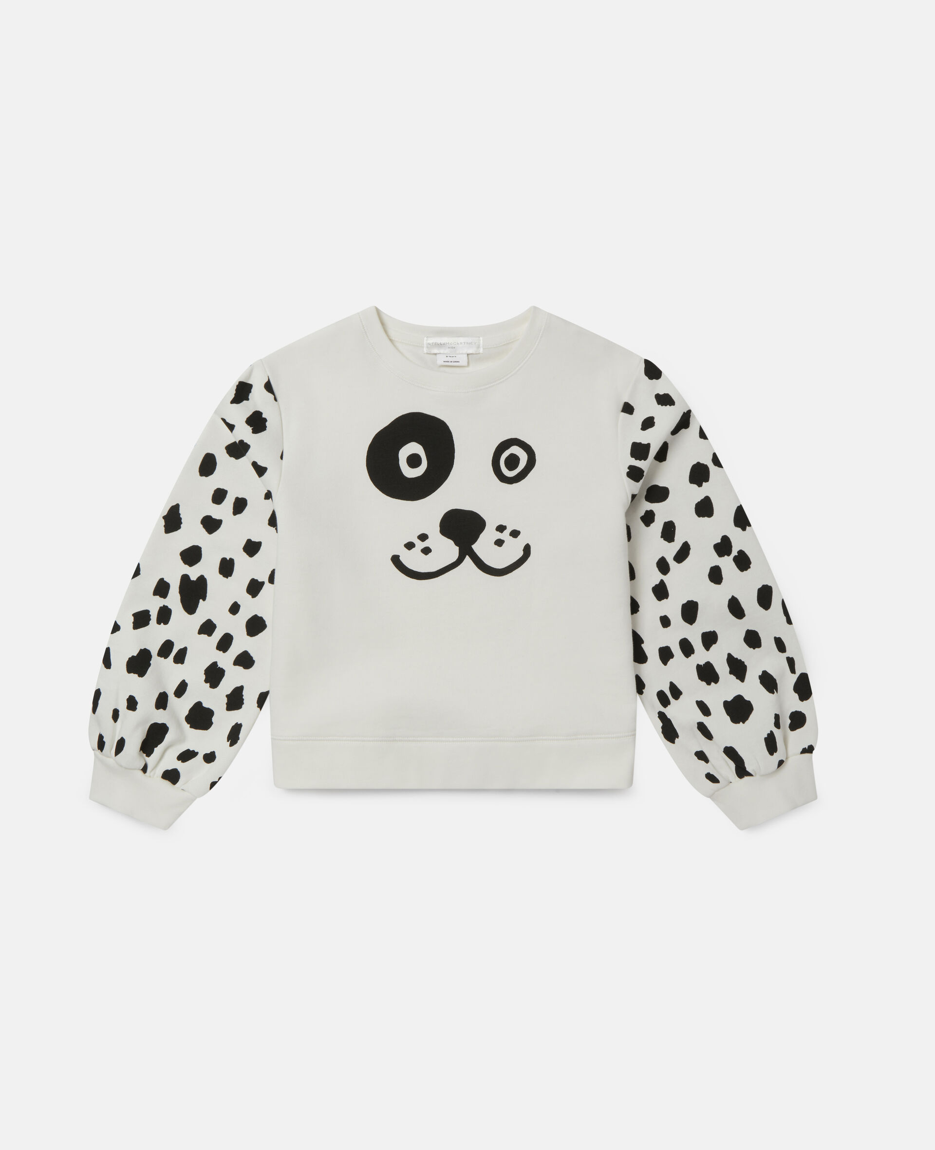 Dalmatian Spots Fleece Tracksuit-White-large image number 0