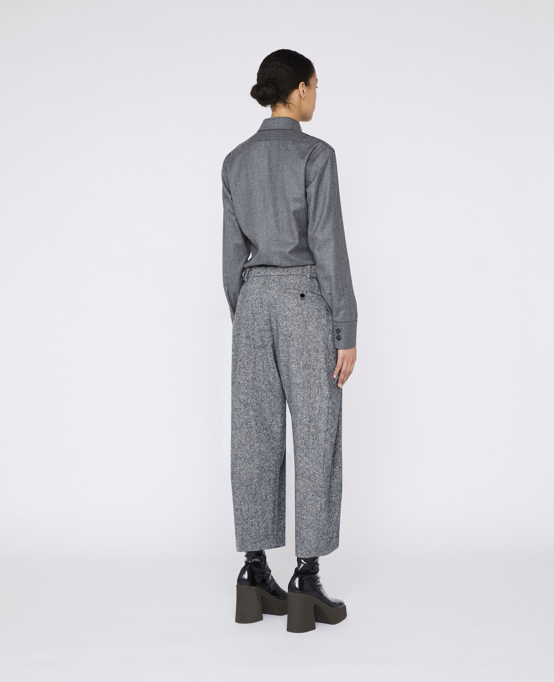 Wool Flannel Shirt-Grau-large image number 2