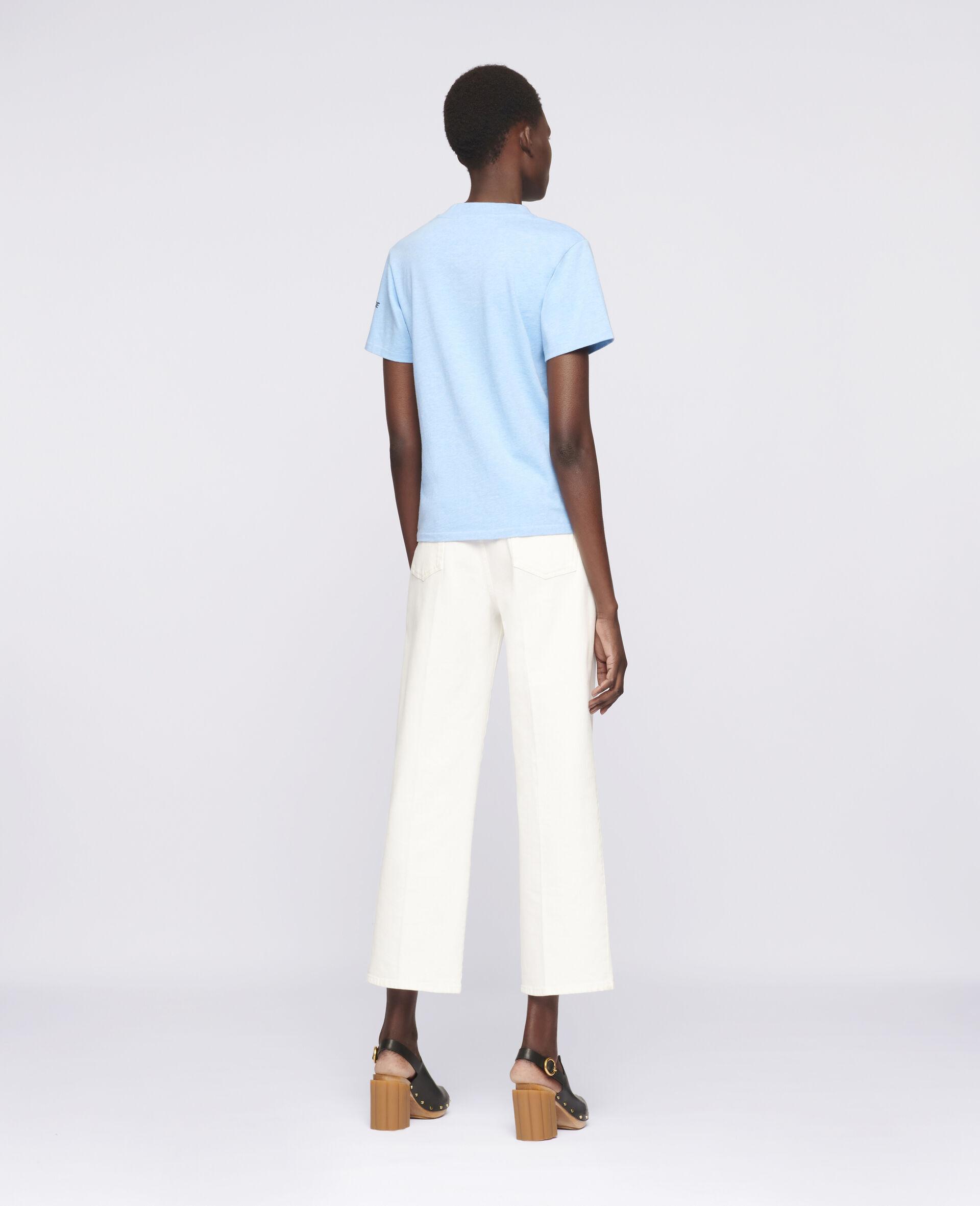 """Baumoll-T-Shirt mit """"Regenbogen-Delfin""""-Print-Blau-large image number 2"""