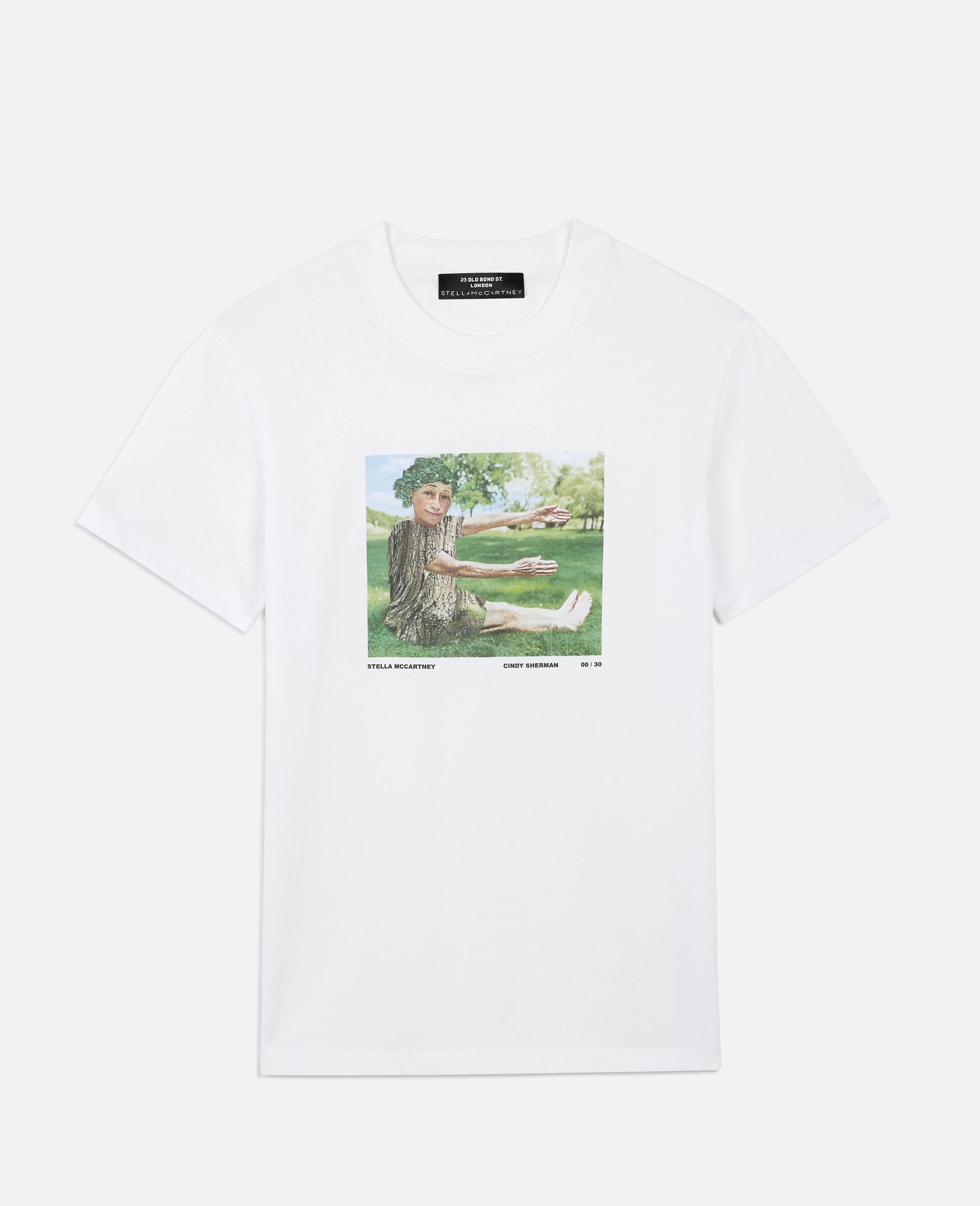 "Cindy Sherman ""E"" T-shirt-White-large image number 0"