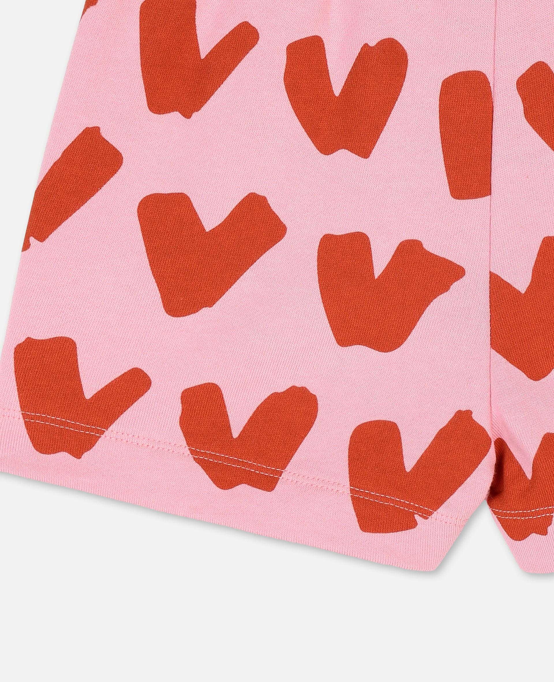 Baumwollfleece-Shorts mit Herzen-Rose-large image number 2