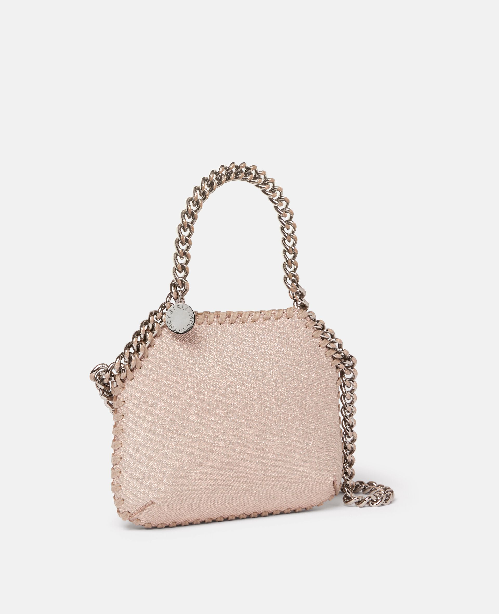 Mini sac porté épaule Falabella Glitter -Rose-large image number 1