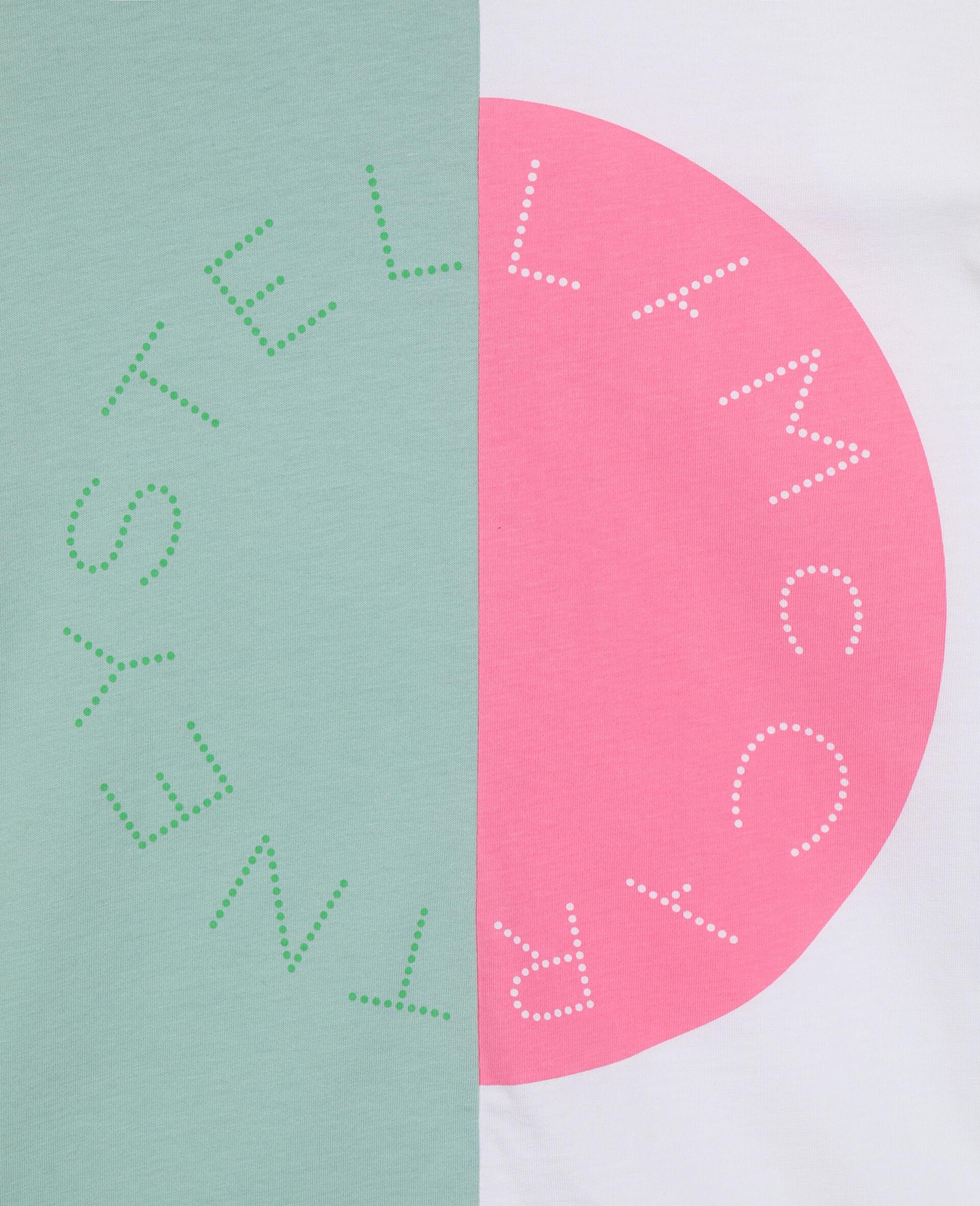 Baumwoll-T-Shirt mit Colourblock-Design und Logo-Grün-large image number 2