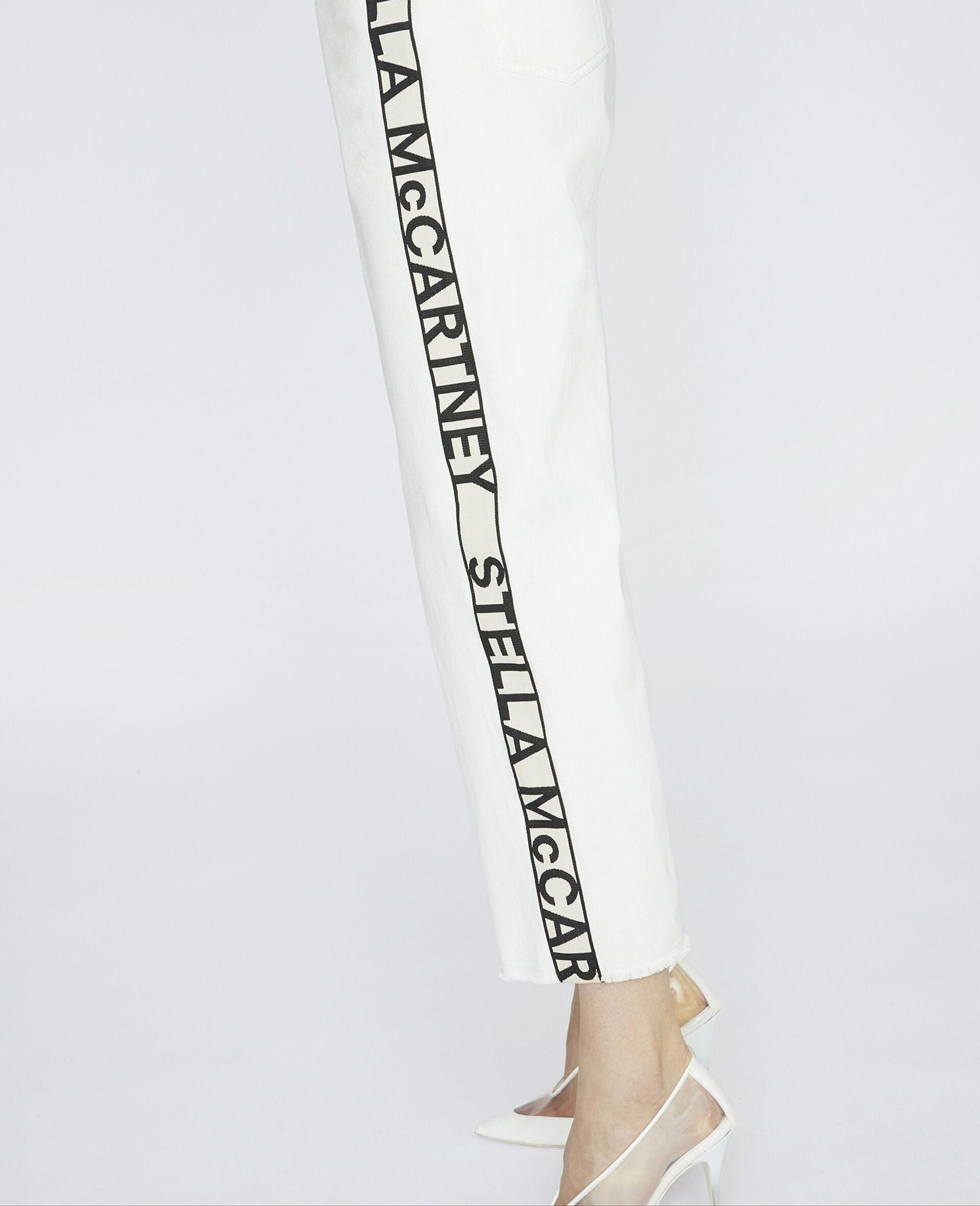 九分牛仔裤-白色-large image number 3