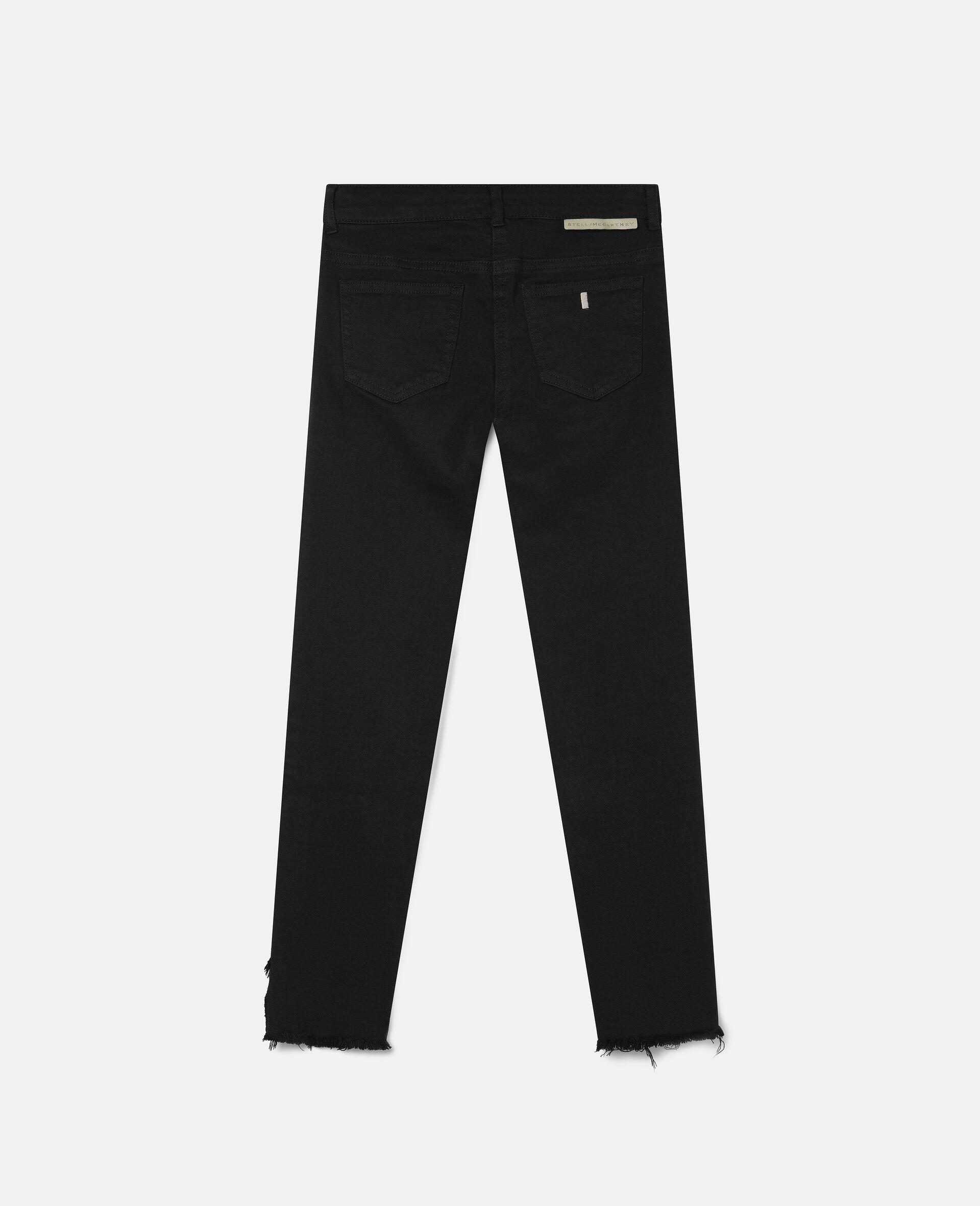 Denim Pants-Black-large image number 3