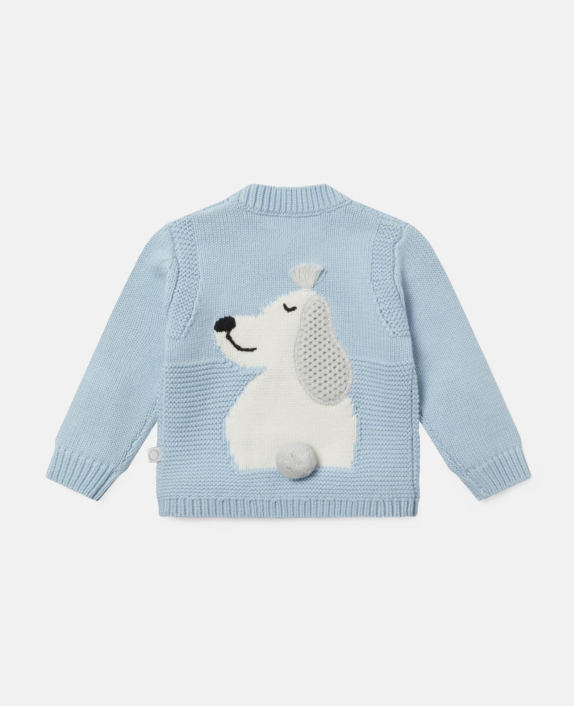 Happy Dog Knit Intarsia Jumper-Blue-large image number 3