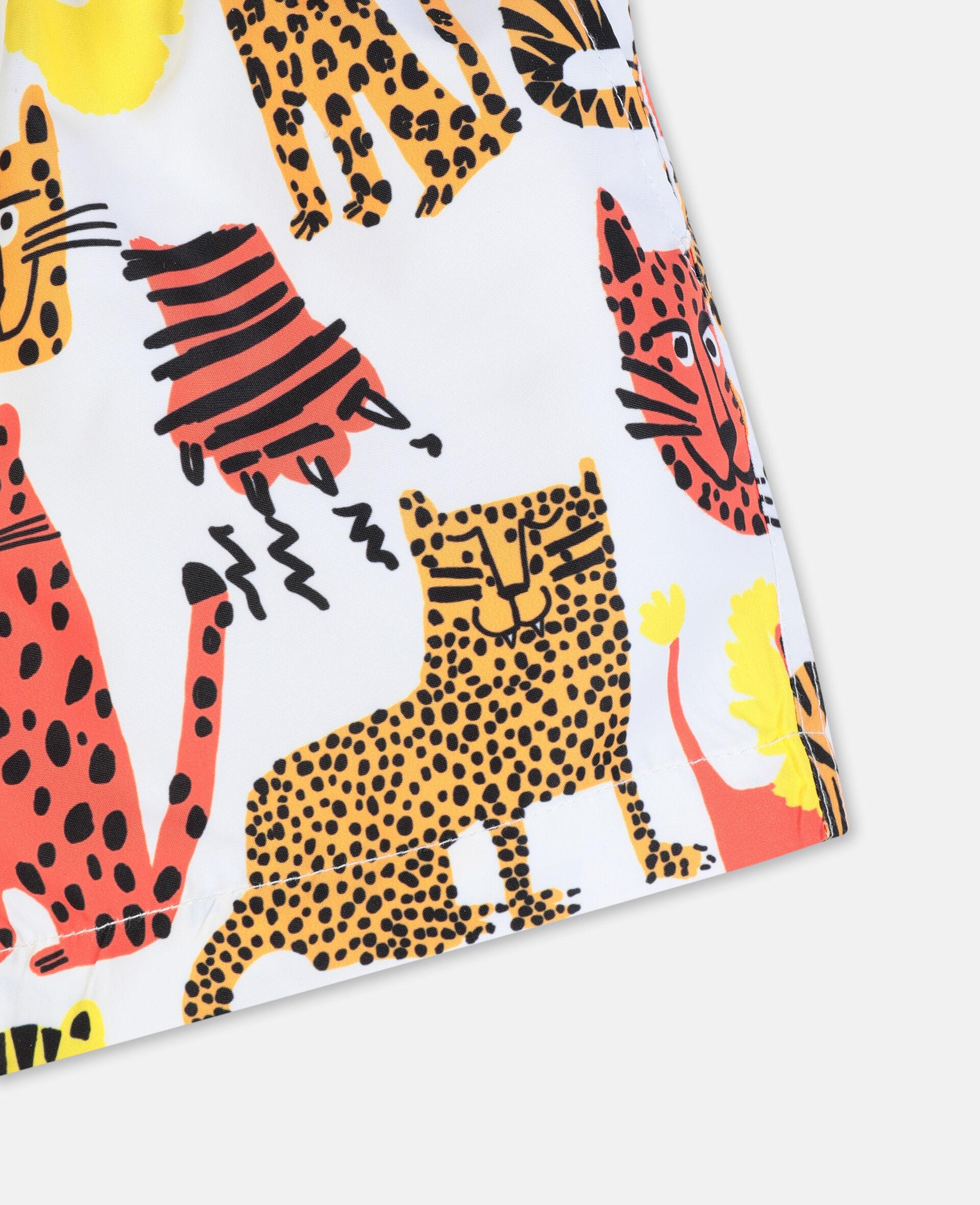 Badeshorts mit Wildkatzen-Print-Gelb-large image number 2